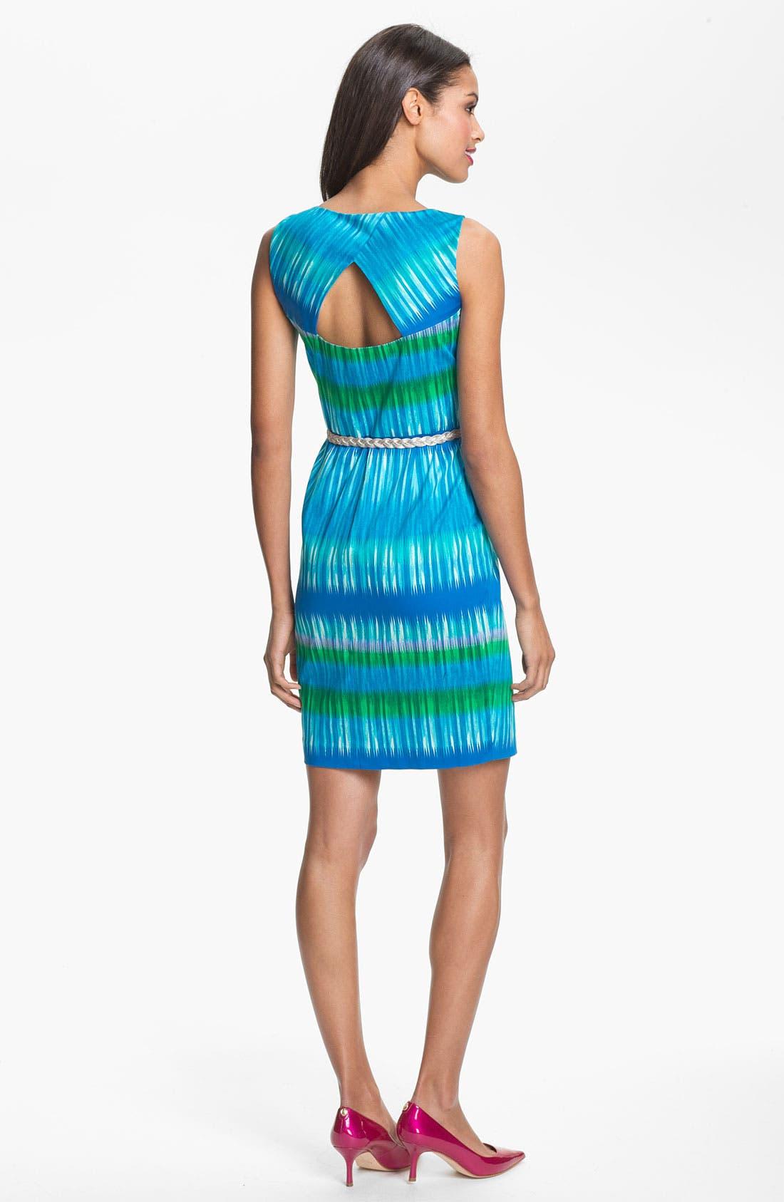 Alternate Image 2  - Calvin Klein Ikat Print Sheath Dress