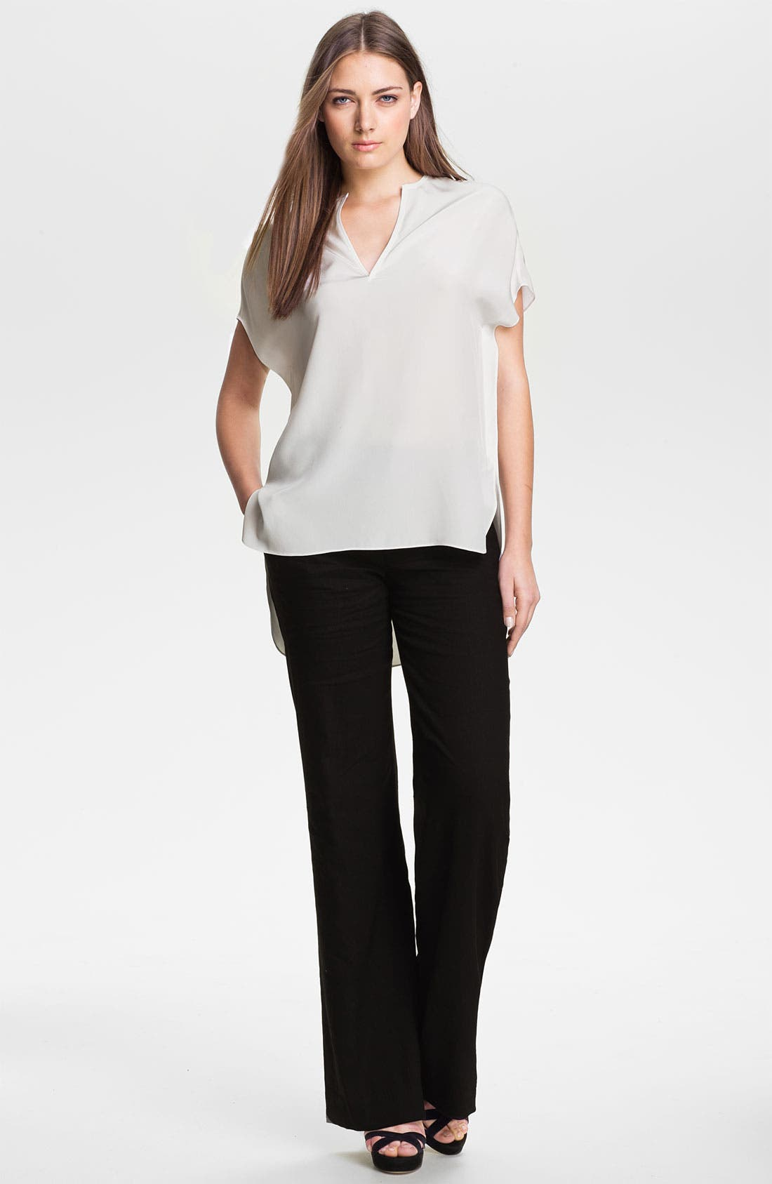 Alternate Image 4  - Vince Linen Wide Leg Trousers