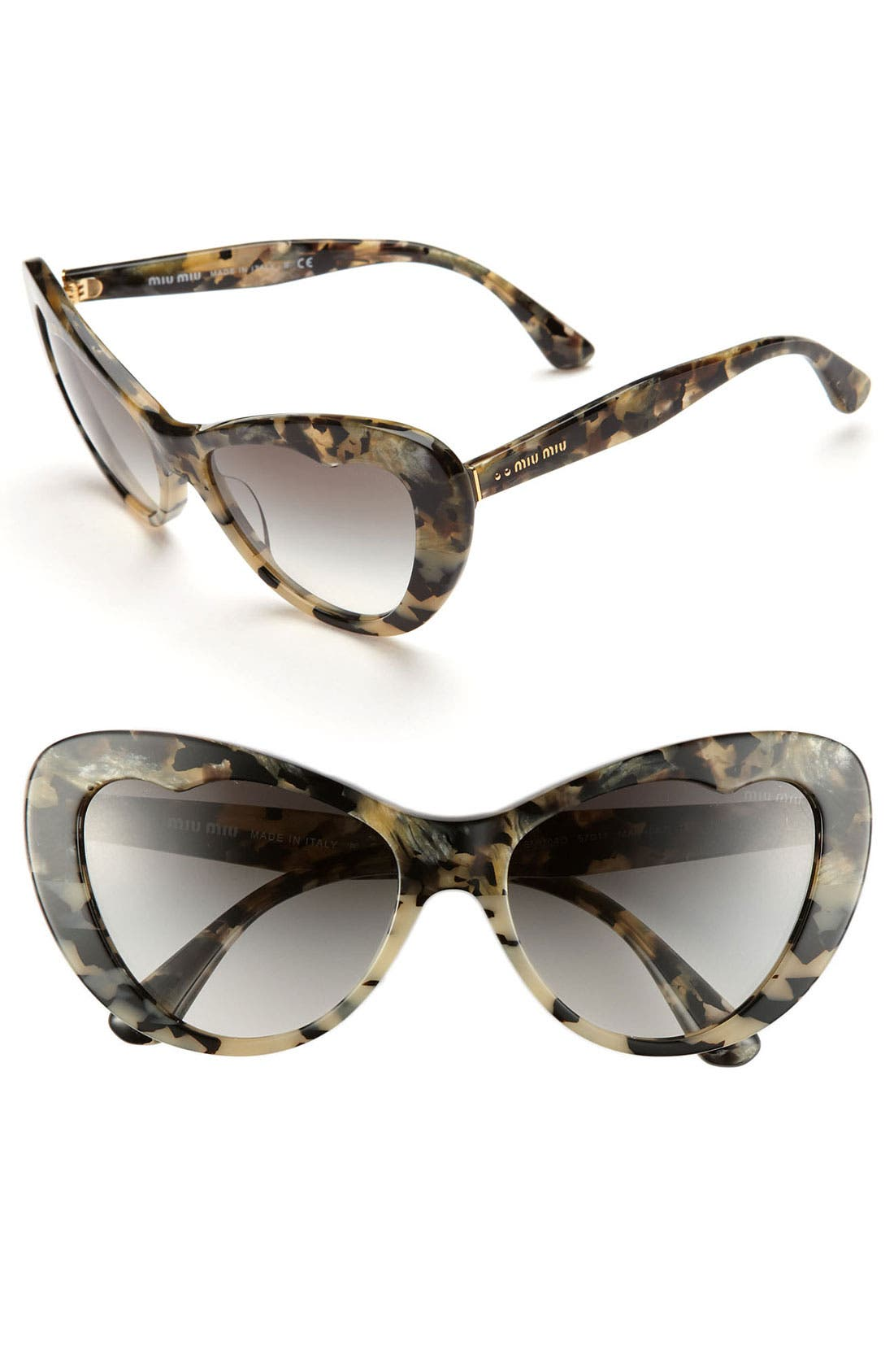 Alternate Image 1 Selected - Miu Miu 57mm Cat Eye Sunglasses