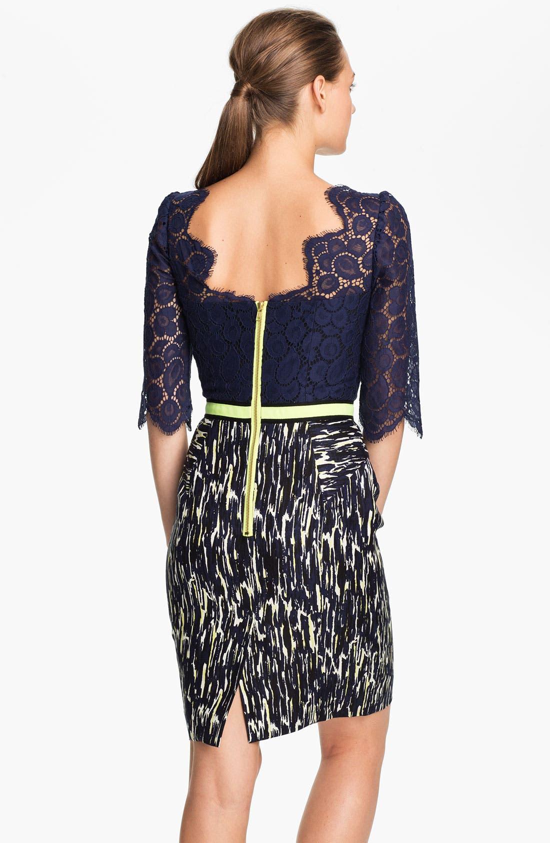 Alternate Image 2  - Milly Linen Blend Sheath Dress