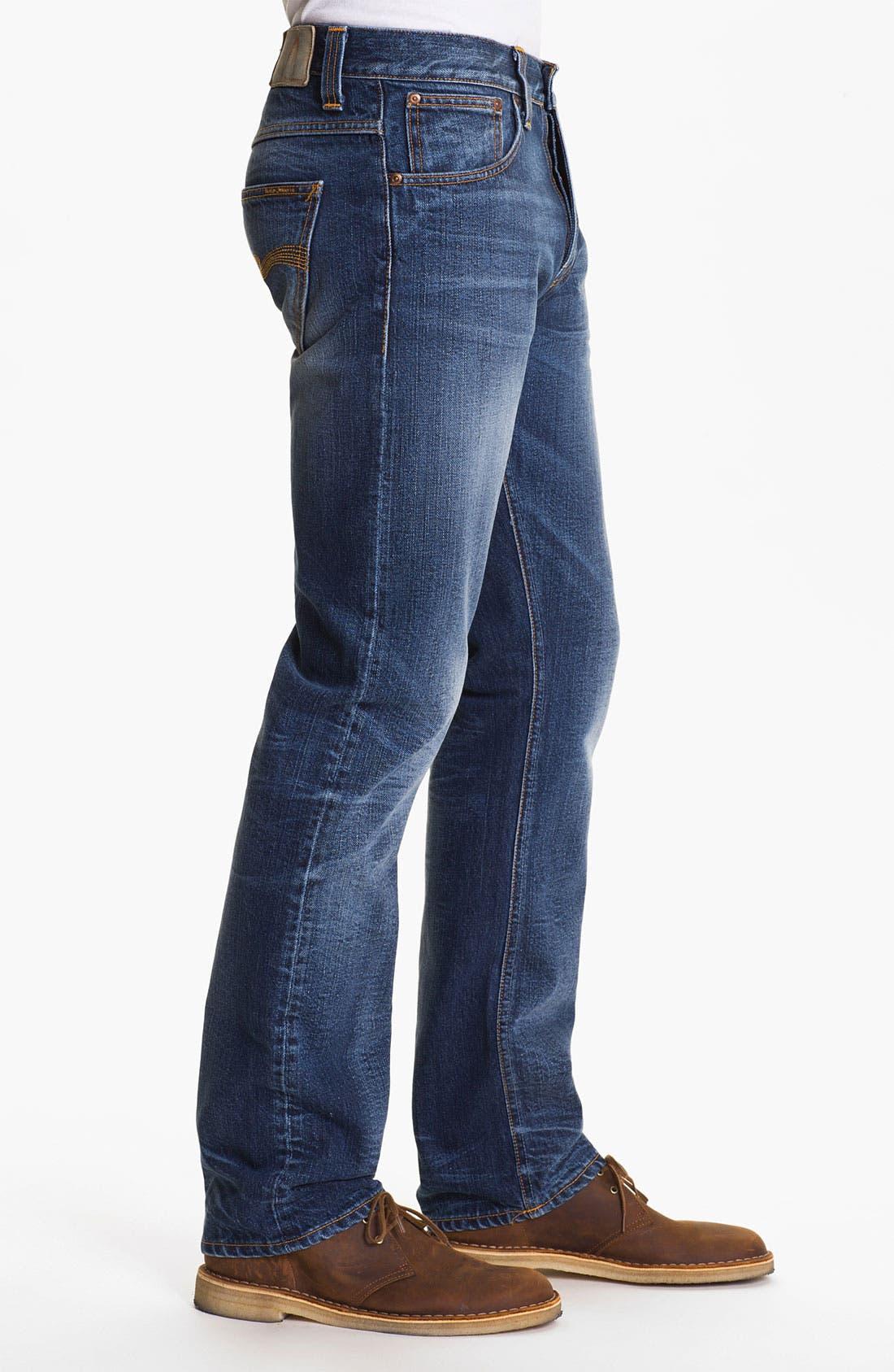 Alternate Image 3  - Nudie 'Average Joe' Straight Leg Jeans (Organic Fine Contrast)