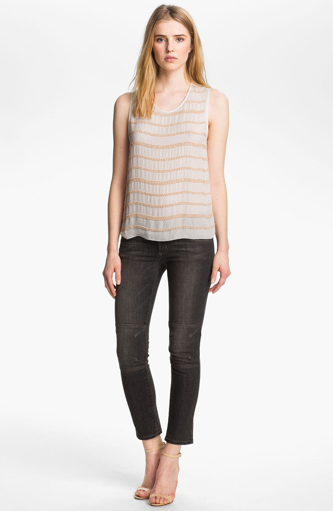 Alternate Image 2  - L'AGENCE Beaded Double Georgette Tank