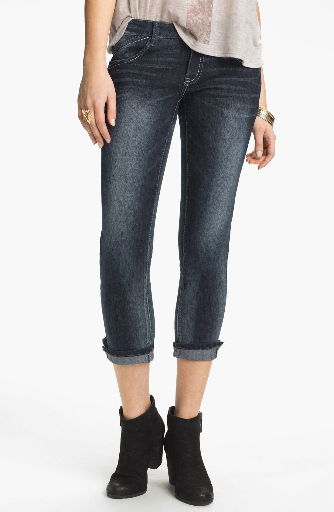 Alternate Image 3  - Jolt Skinny Crop Jeans (Juniors)