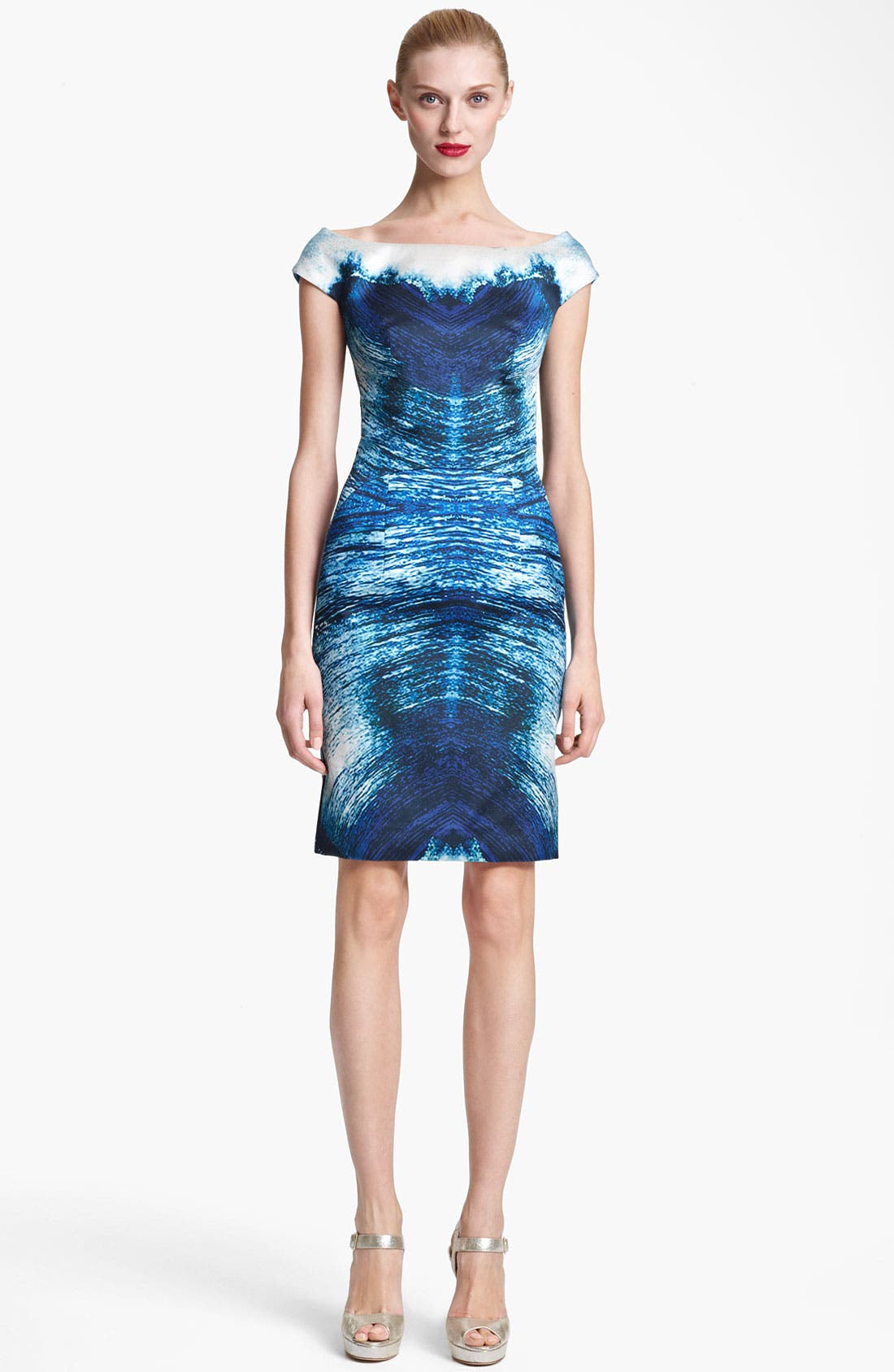 Alternate Image 1 Selected - Naeem Khan Print Organza Cocktail Dress