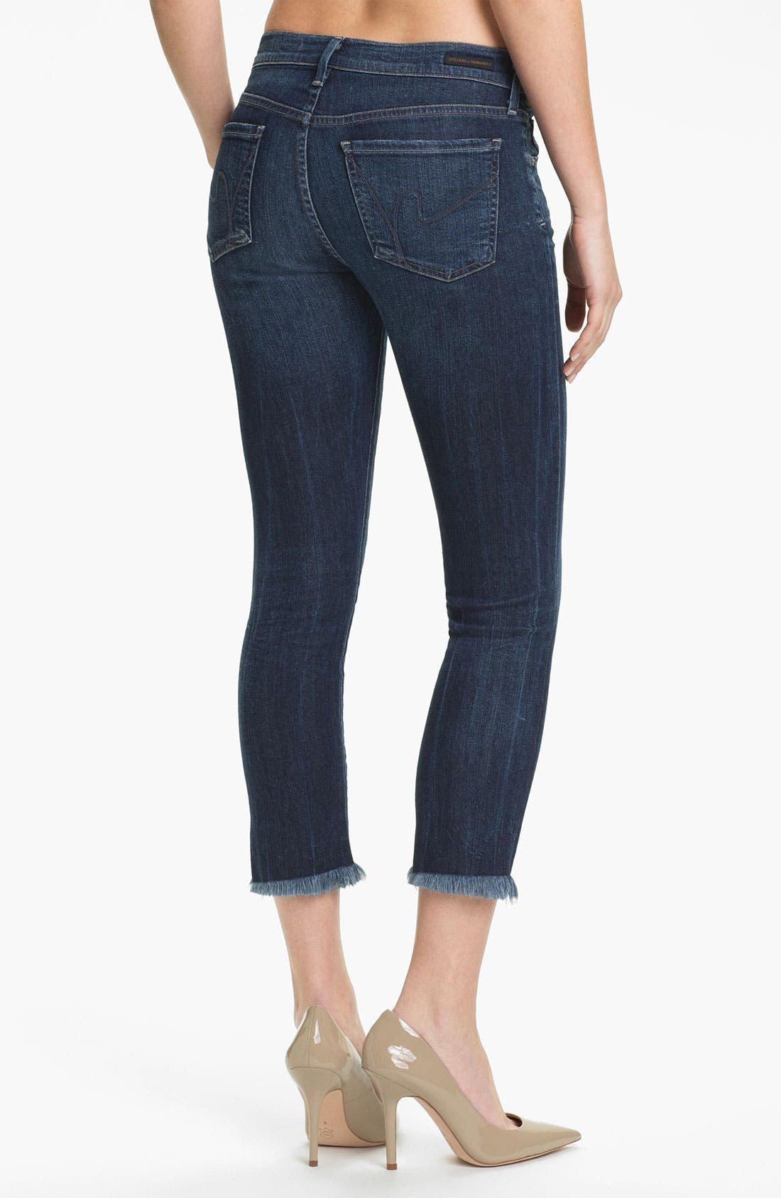 Alternate Image 2  - Citizens of Humanity Cutoff Crop Skinny Jeans (Taboo)