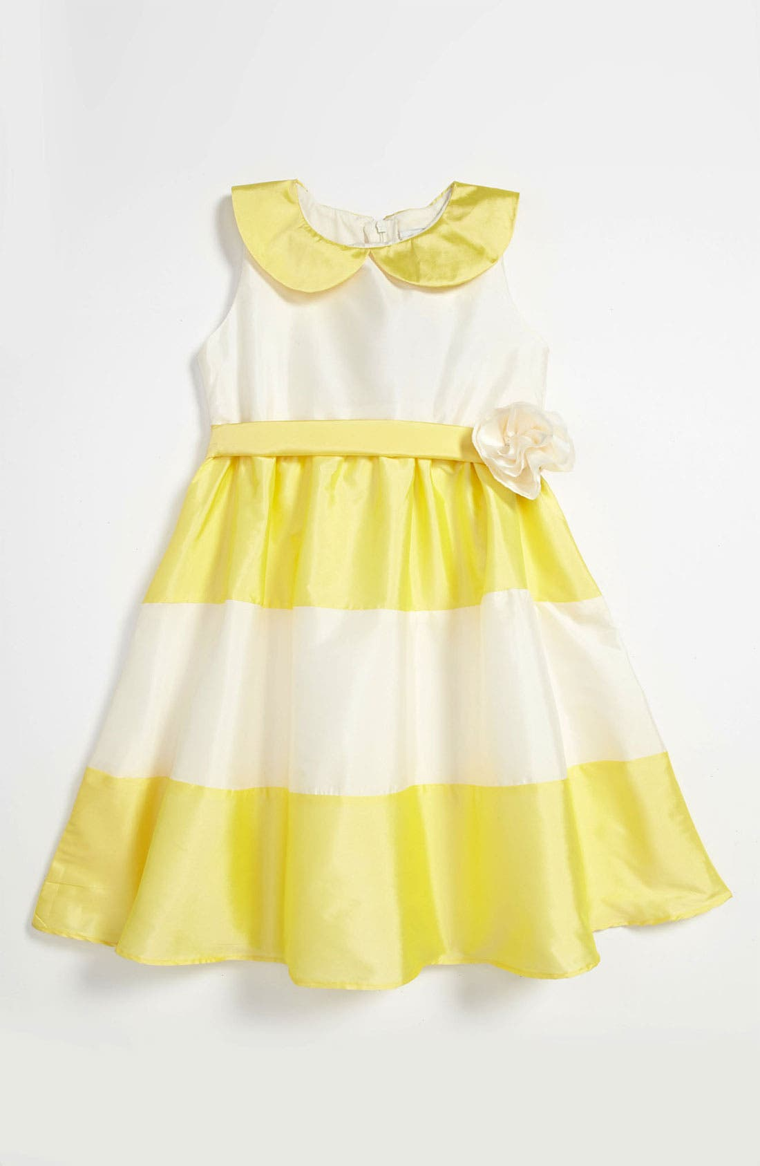 Alternate Image 2  - Us Angels Peter Pan Collar Dress (Little Girls)