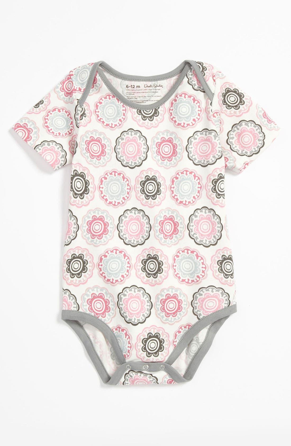 Alternate Image 1 Selected - DwellStudio Short Sleeve Bodysuit (Infant)