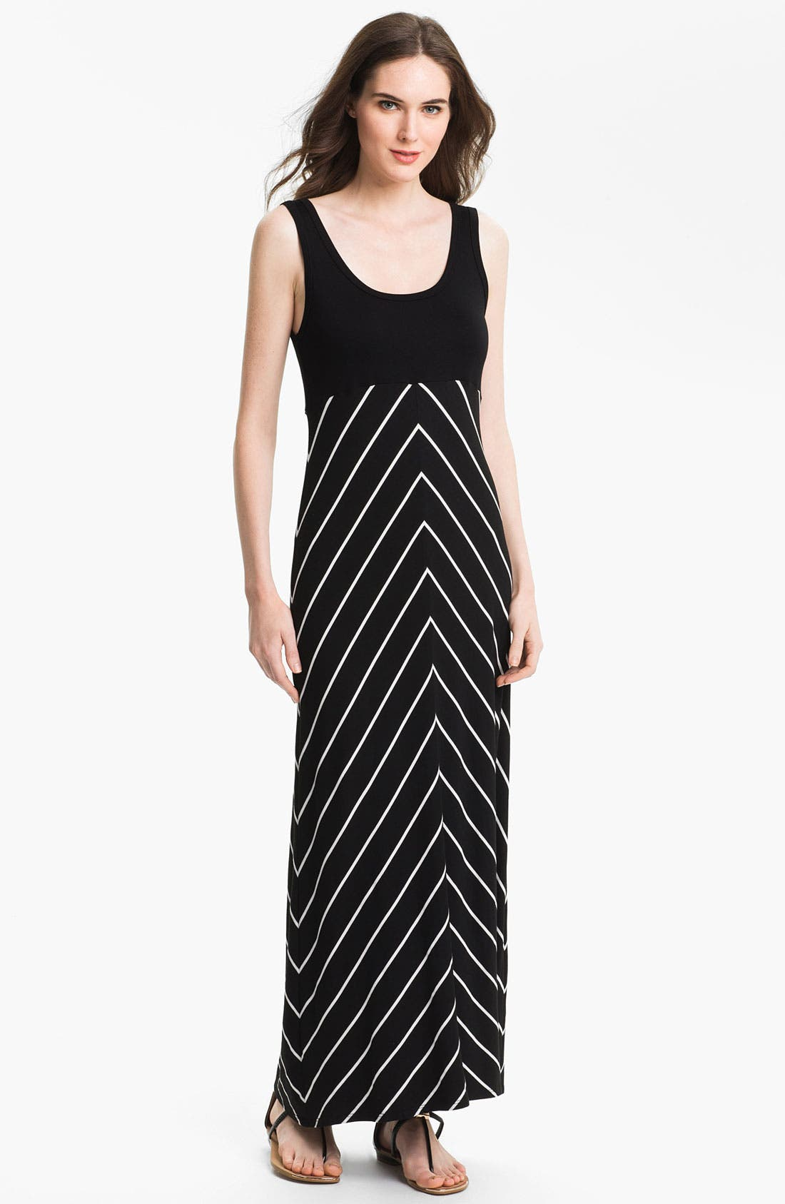 Alternate Image 1 Selected - Karen Kane Stripe Maxi Tank Dress