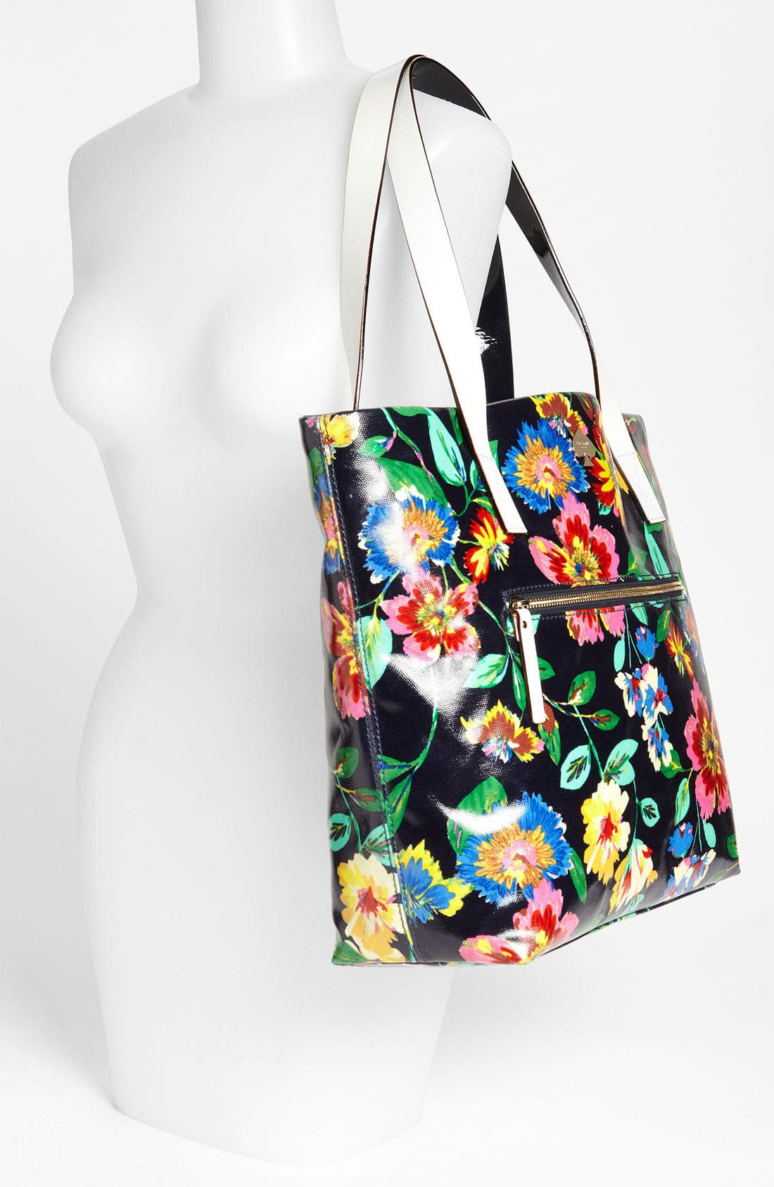 'flicker' coated canvas bon shopper,                             Alternate thumbnail 2, color,                             French Navy