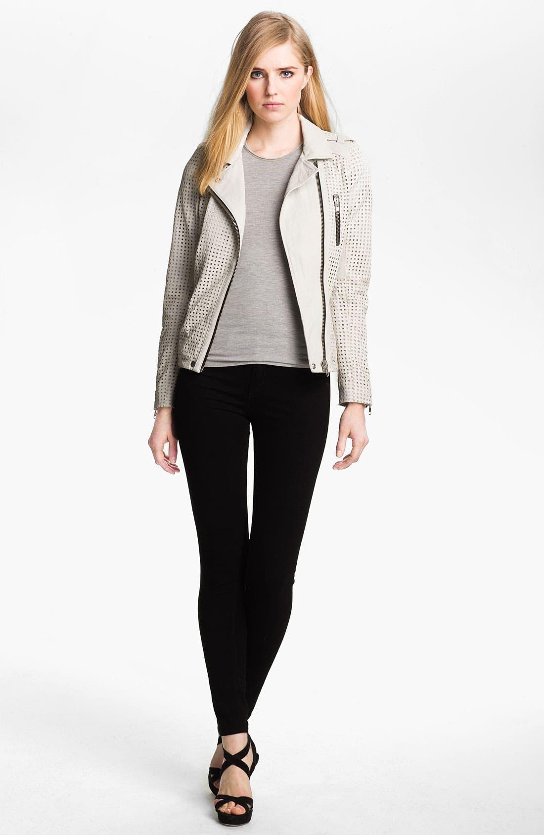 Alternate Image 1 Selected - IRO Asymmetrical Zip Leather Moto Jacket