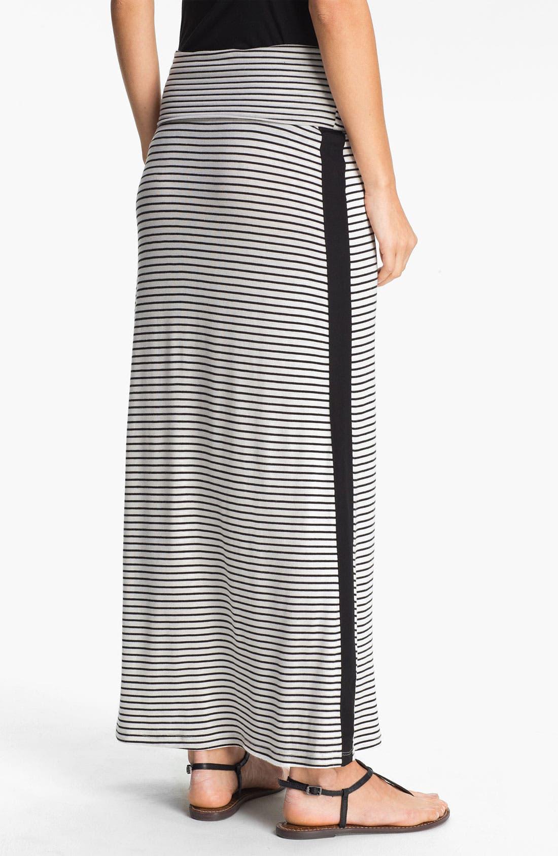 Alternate Image 2  - Everleigh Tuxedo Stripe Maxi Skirt