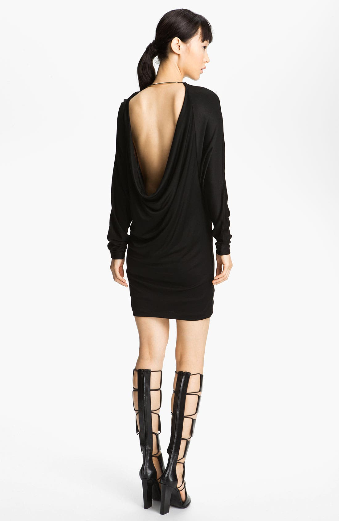 Alternate Image 2  - T by Alexander Wang Double Knit Piqué Dress