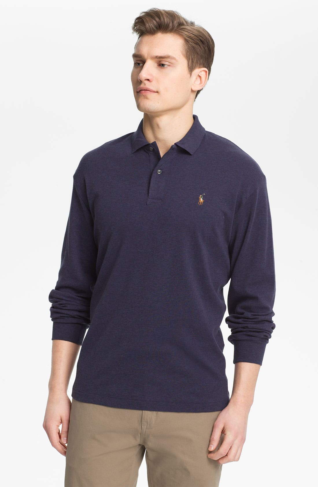Main Image - Polo Ralph Lauren Classic Fit Long Sleeve Polo