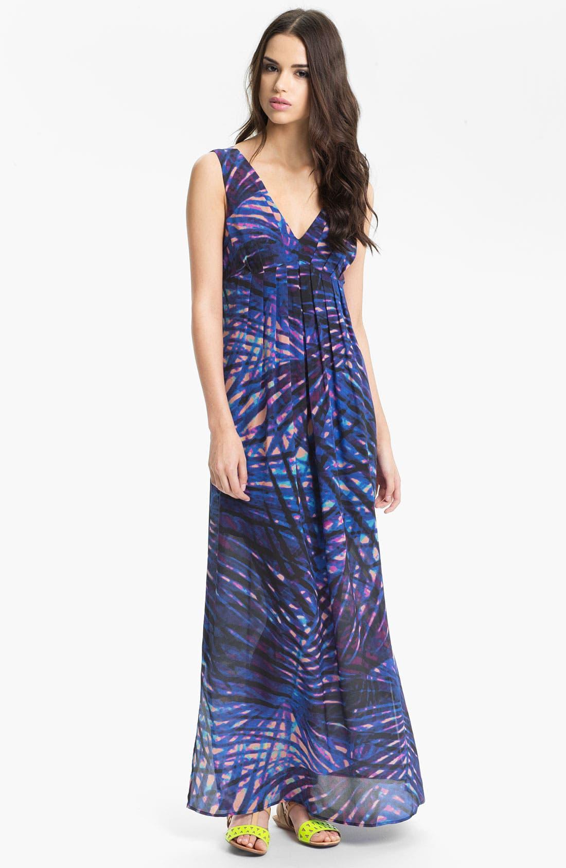 Alternate Image 1 Selected - Presley Skye Print Silk Maxi Dress