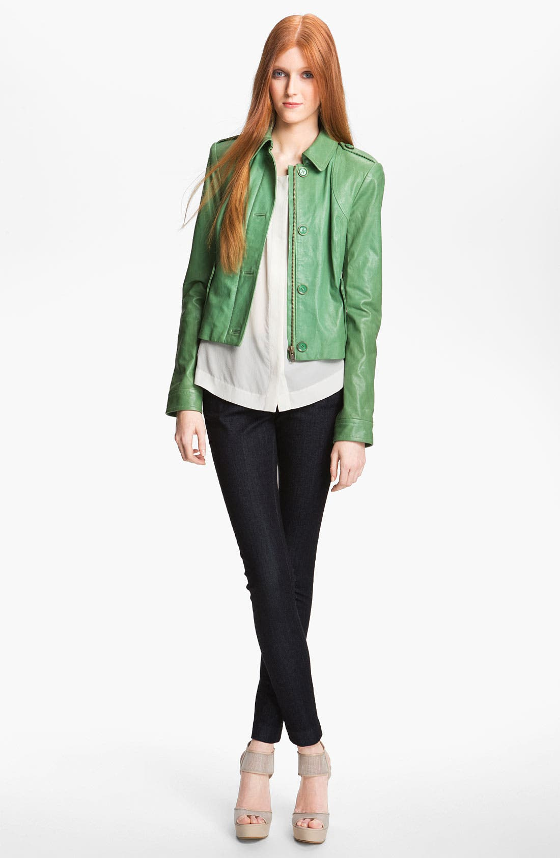 Alternate Image 1 Selected - Rachel Zoe 'Celia' Dual Closure Leather Jacket