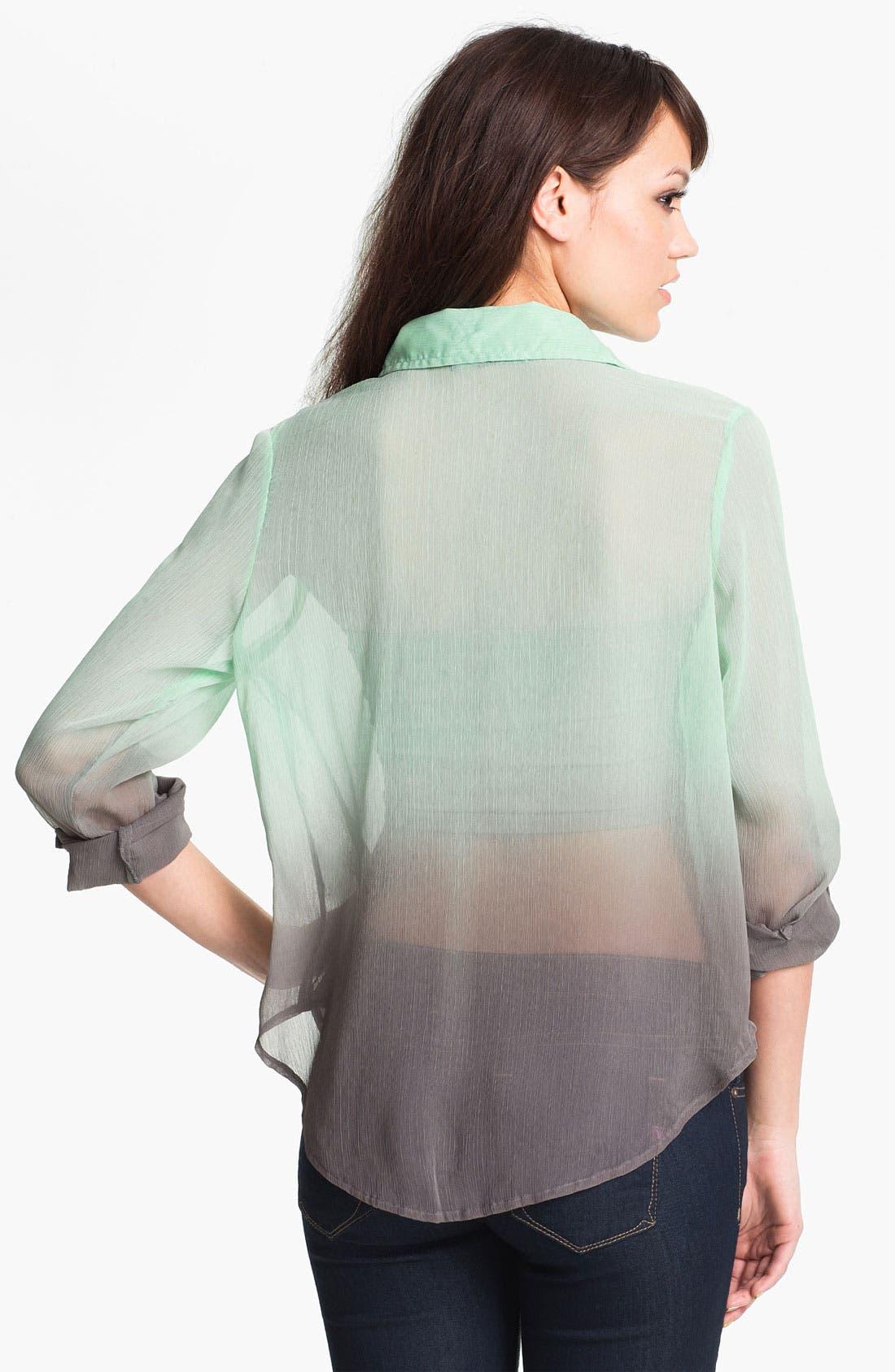 Alternate Image 2  - Living Doll Ombré Chiffon Shirt