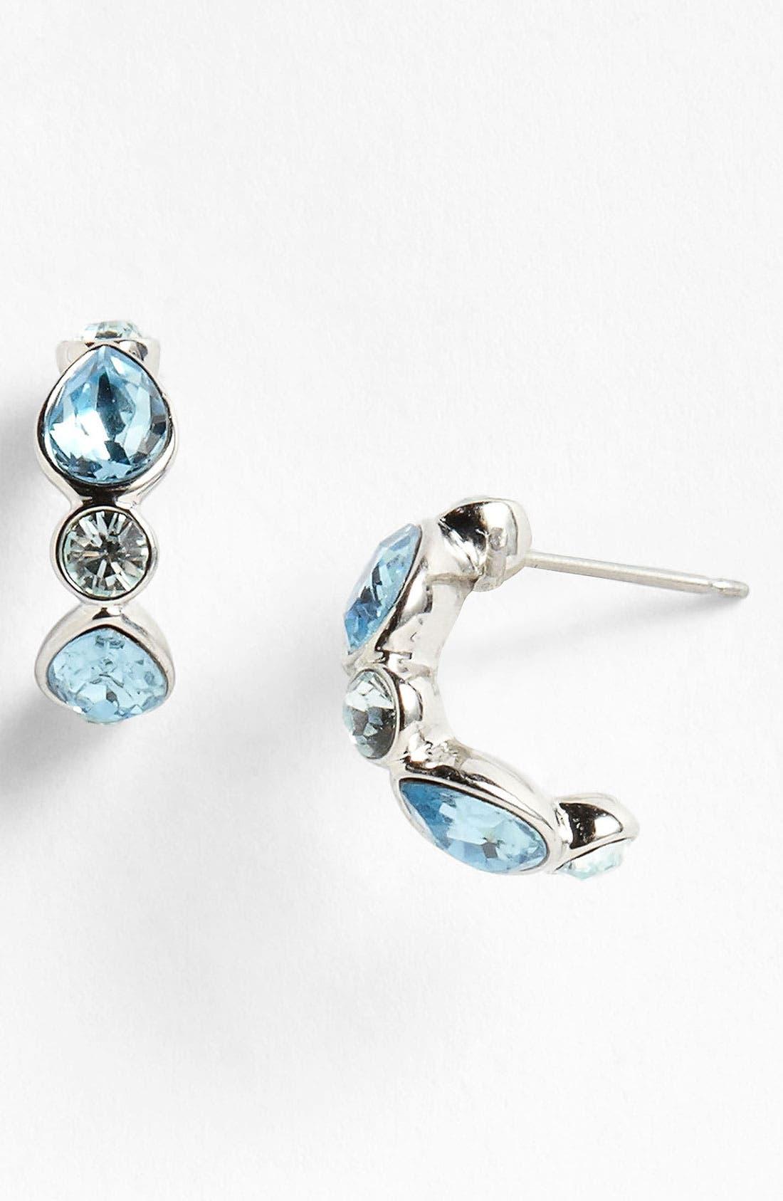 Alternate Image 1 Selected - Givenchy Crystal Hoop Earrings