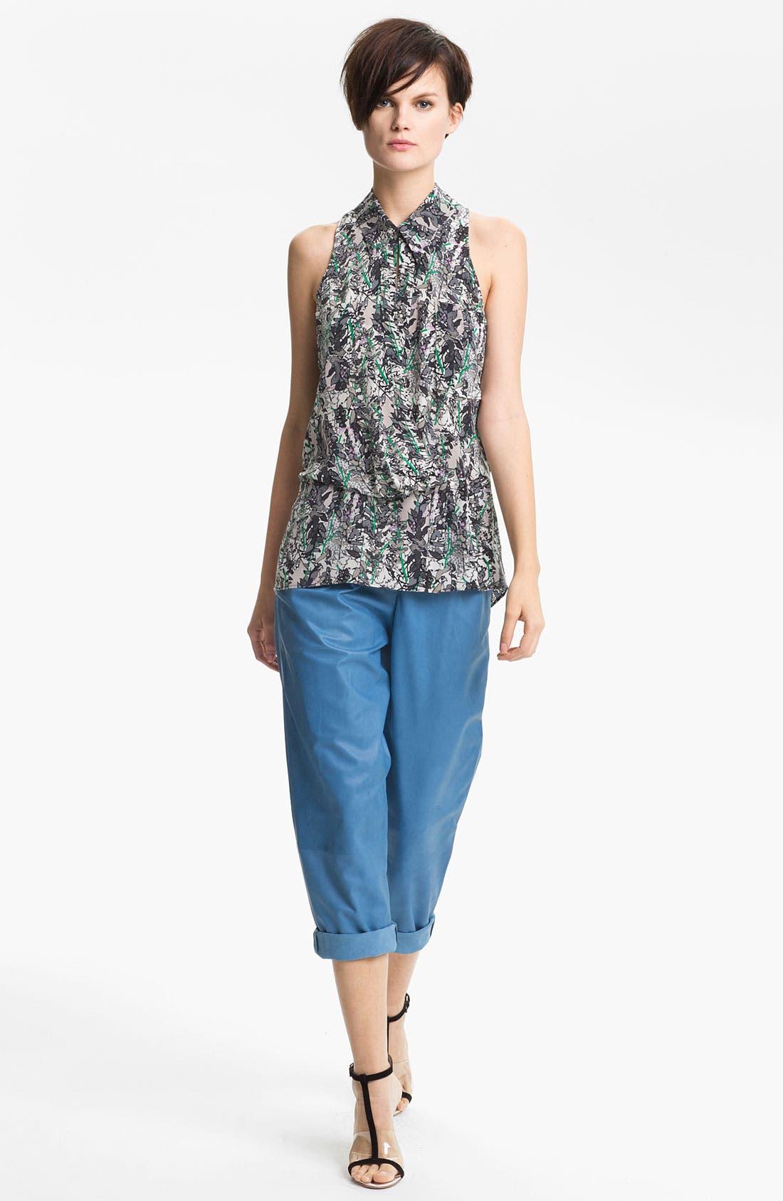 Alternate Image 2  - Tracy Reese Leaf Print Silk Shirt