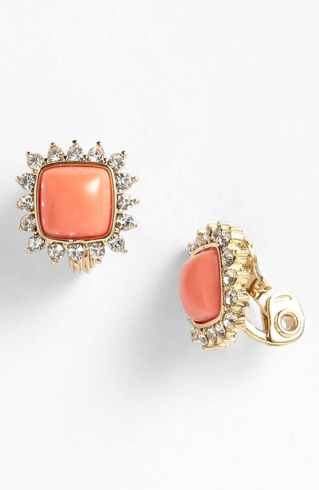 Alternate Image 1 Selected - Anne Klein Square Button Clip Earrings