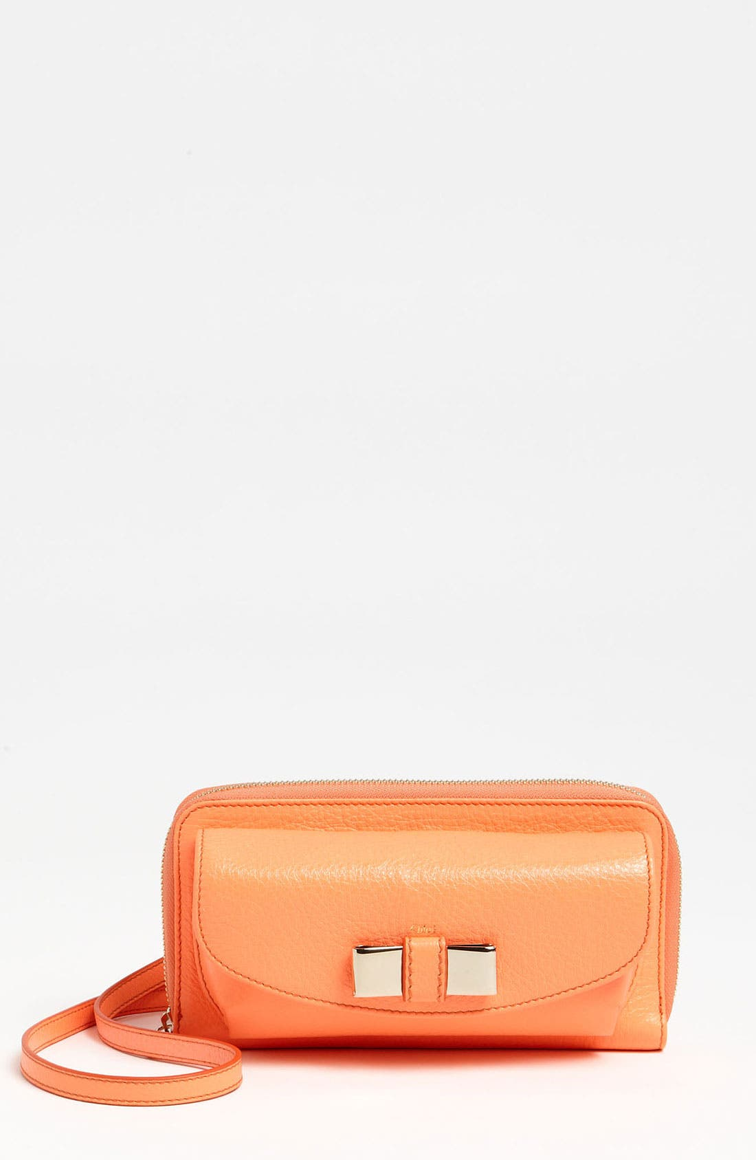 Alternate Image 1 Selected - Chloé 'Lily - Long' Sunglasses Case & Crossbody Wallet