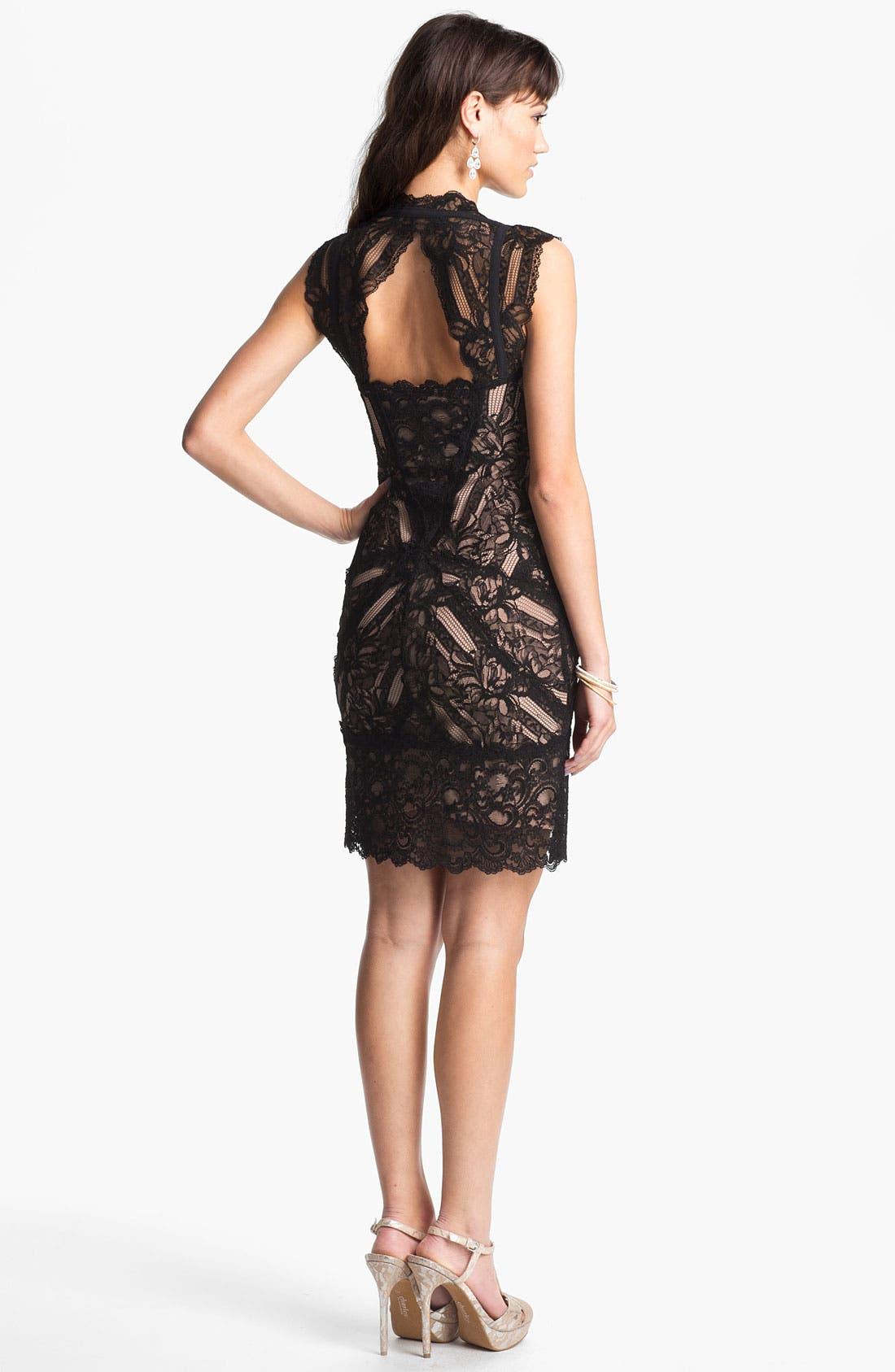 Alternate Image 2  - Nicole Miller Lace Sheath Dress