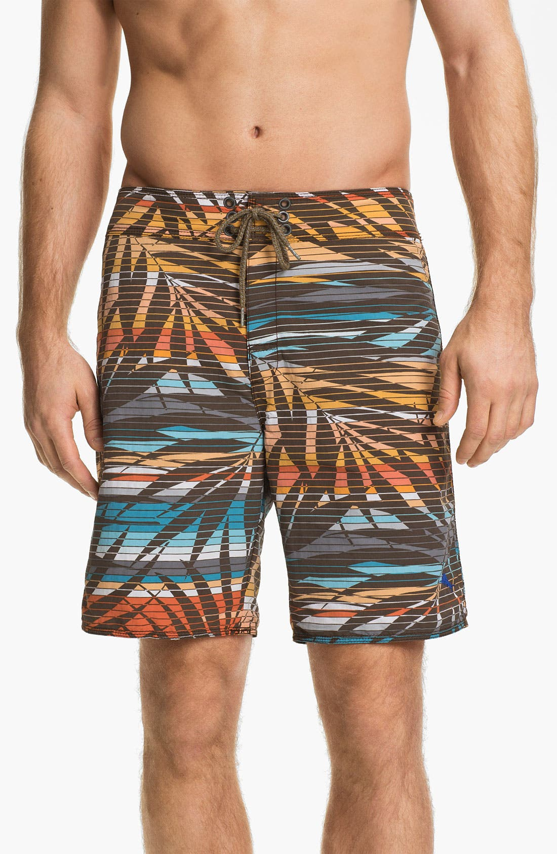 Main Image - Tommy Bahama Relax 'Fern Baby Fern' Reversible Board Shorts (Online Only)