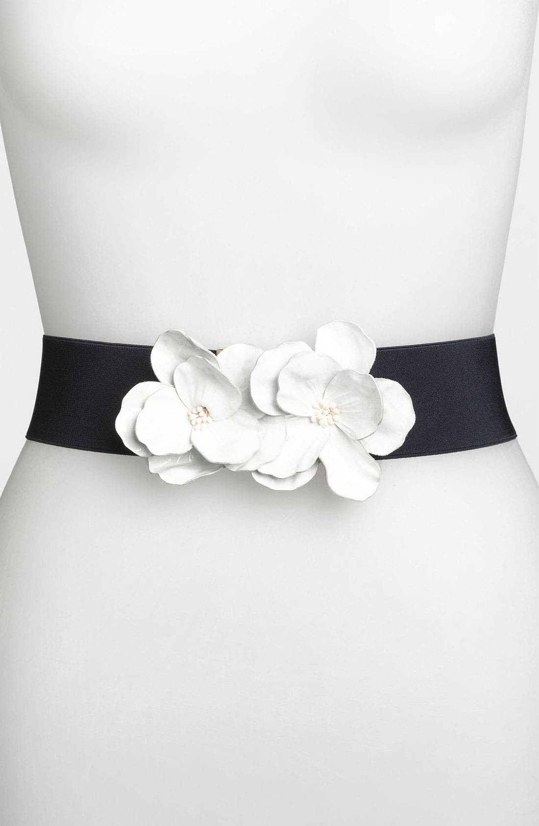 Alternate Image 1 Selected - kate spade new york 'kissing flower' stretch belt
