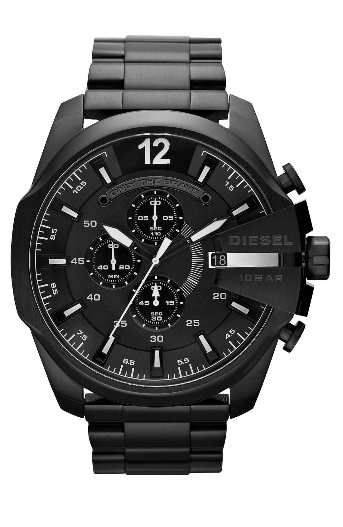 Alternate Image 1 Selected - DIESEL® 'Mega Chief' Bracelet Watch, 51mm
