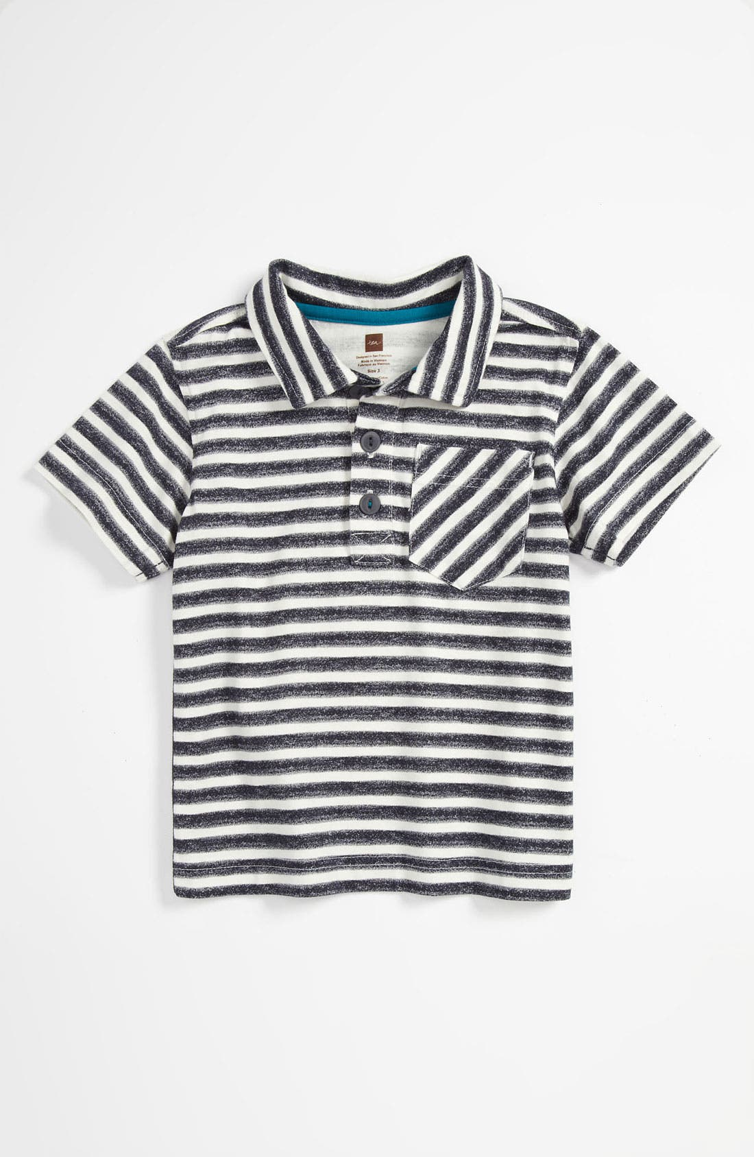 Alternate Image 1 Selected - Tea Collection 'Zebra Stripe' Polo Shirt (Toddler)