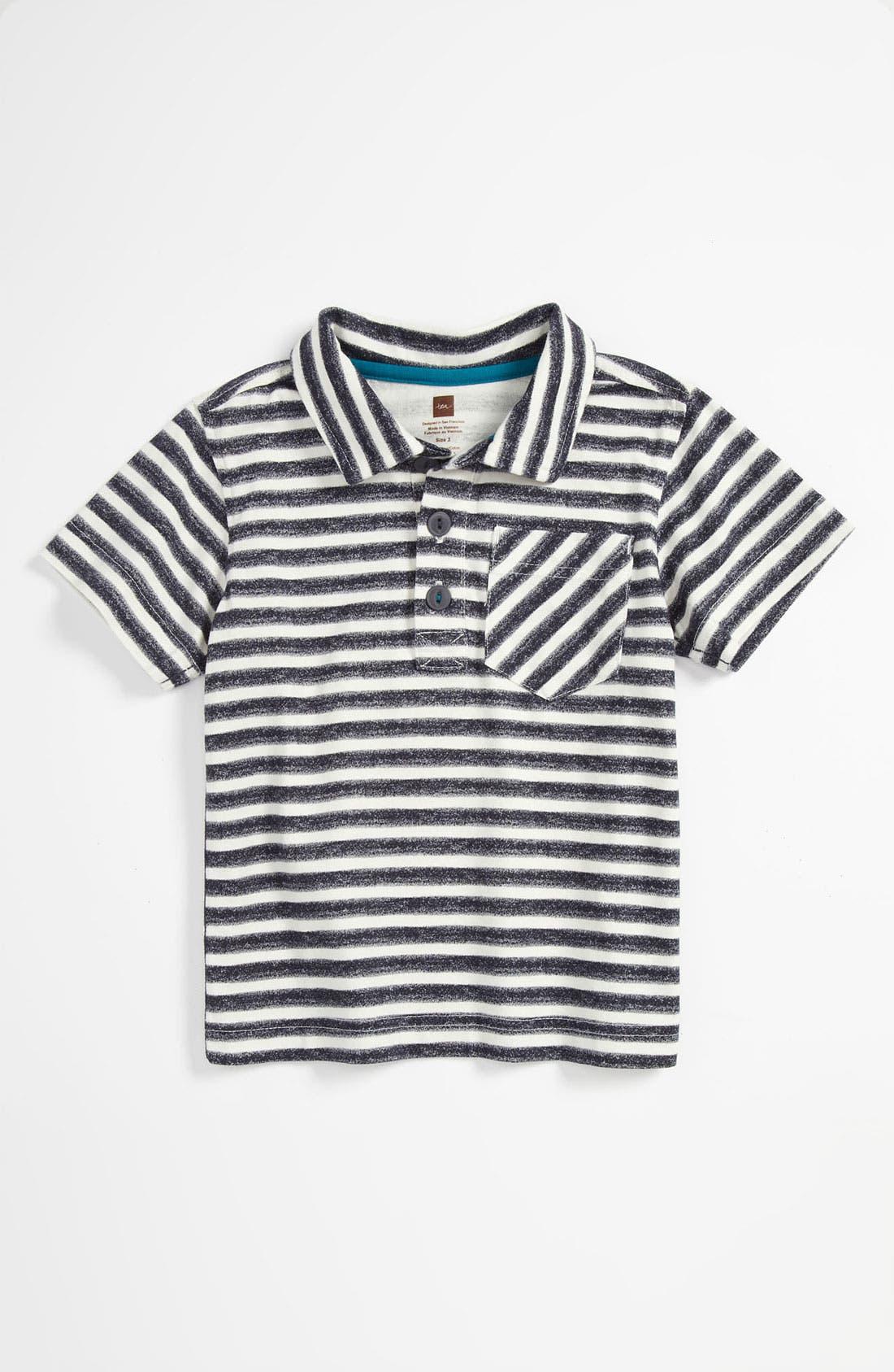 Main Image - Tea Collection 'Zebra Stripe' Polo Shirt (Toddler)