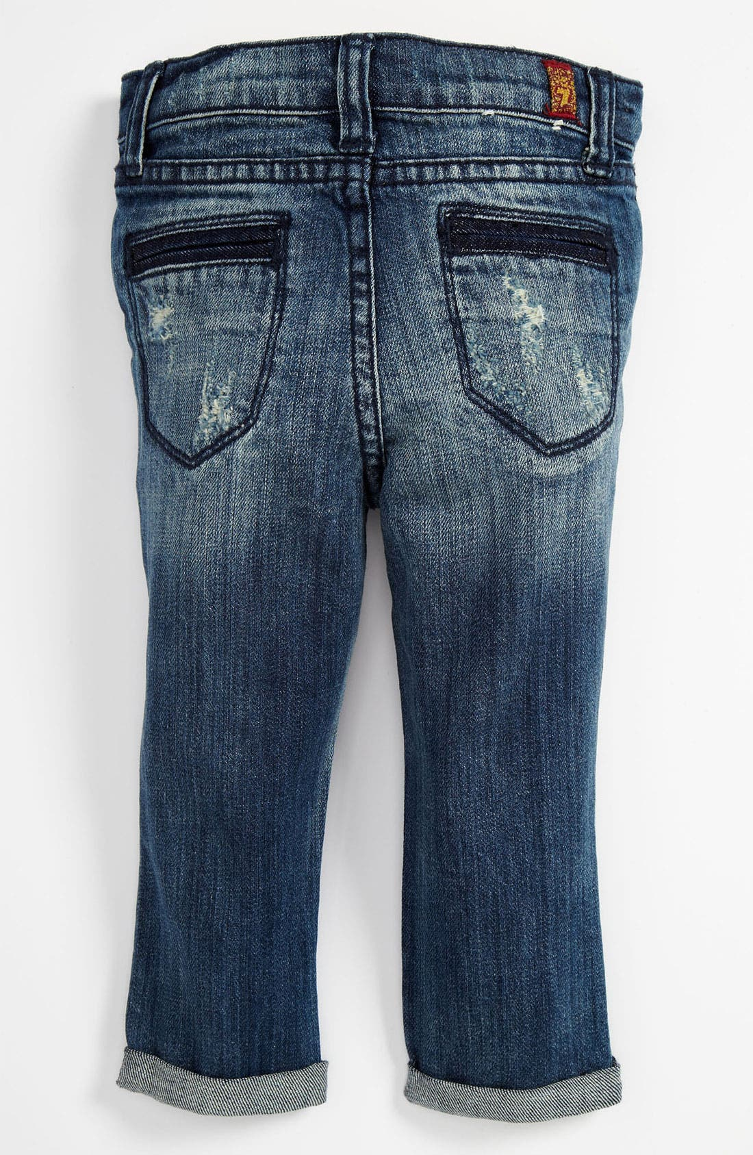 Alternate Image 1 Selected - 7 For All Mankind® Skinny Leg Crop Jeans (Toddler)
