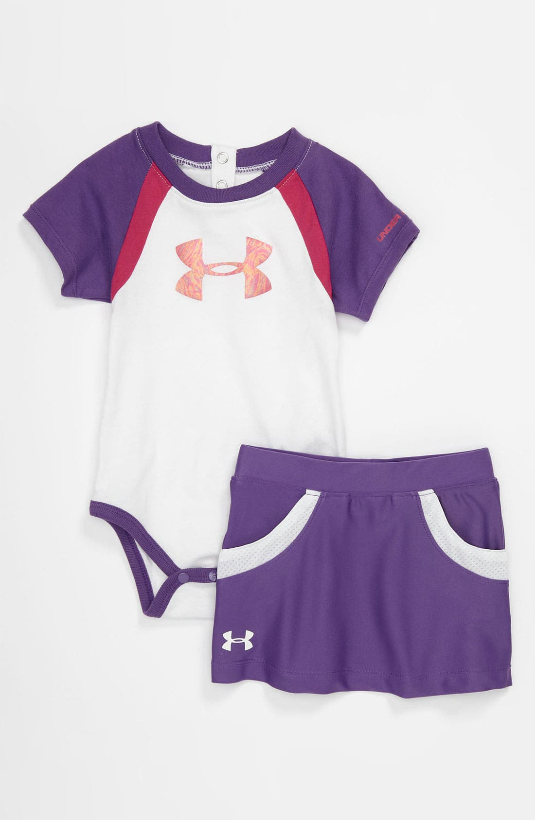 Alternate Image 1 Selected - Under Armour Bodysuit & Skirt (Baby)
