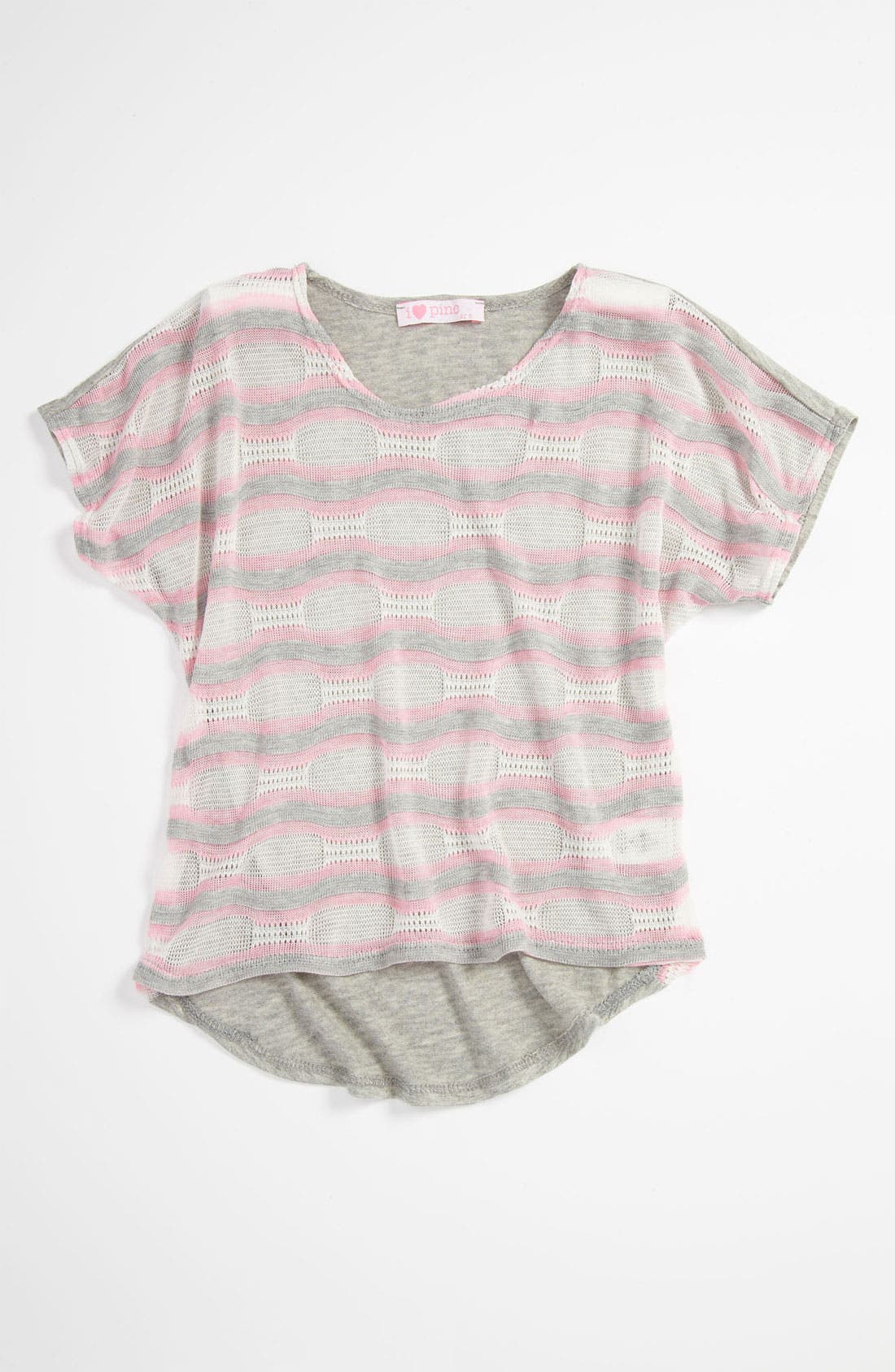 Alternate Image 1 Selected - I Heart Pinc Knit Top (Big Girls)