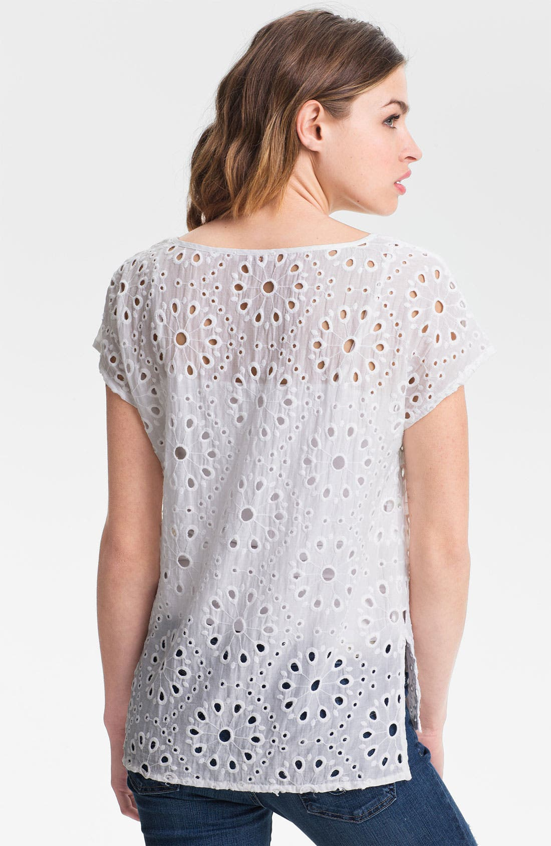 Alternate Image 2  - Ella Moss 'Heidi' Eyelet Top