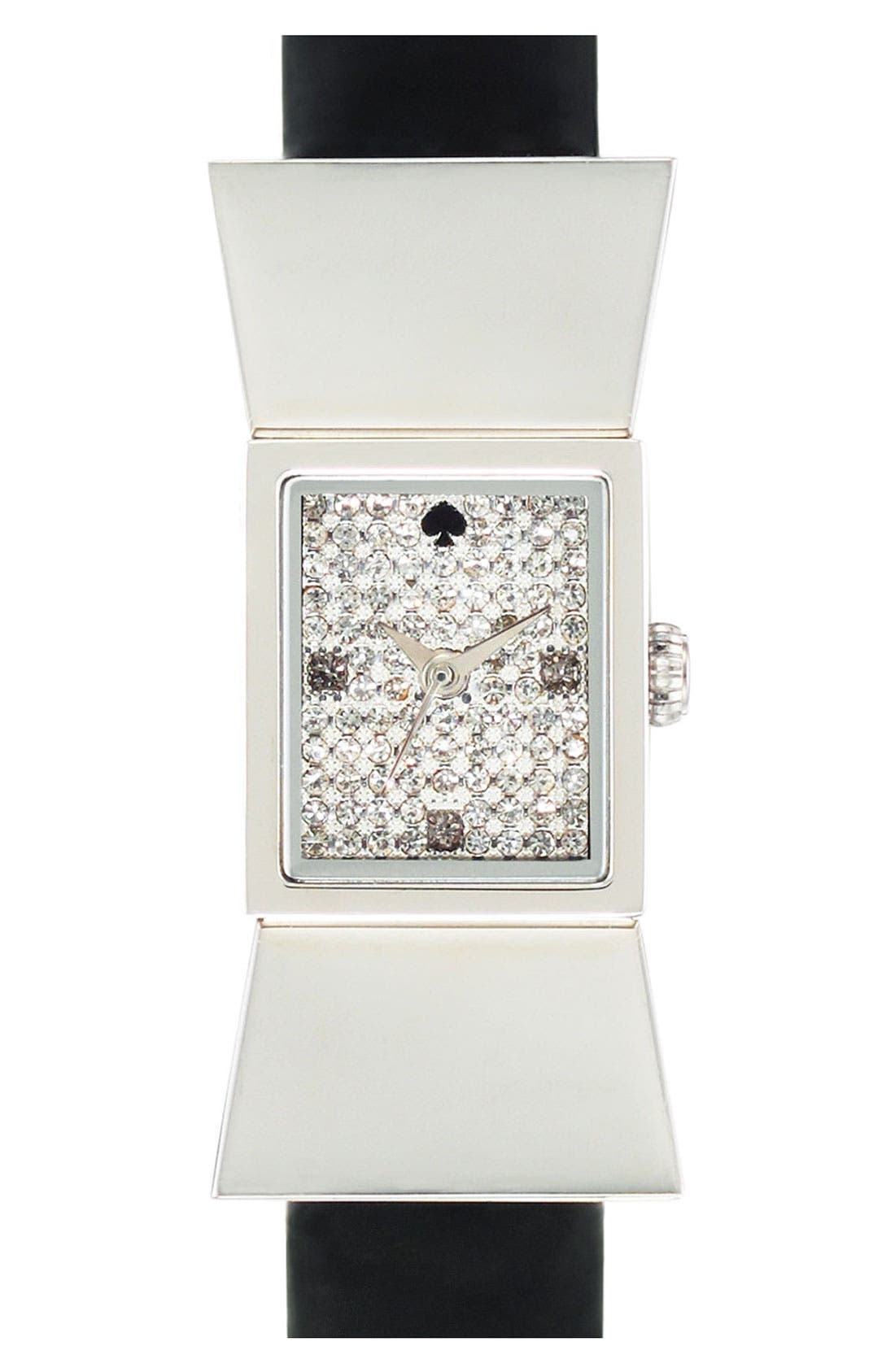 Alternate Image 1 Selected - kate spade new york 'carlyle' pavé dial watch
