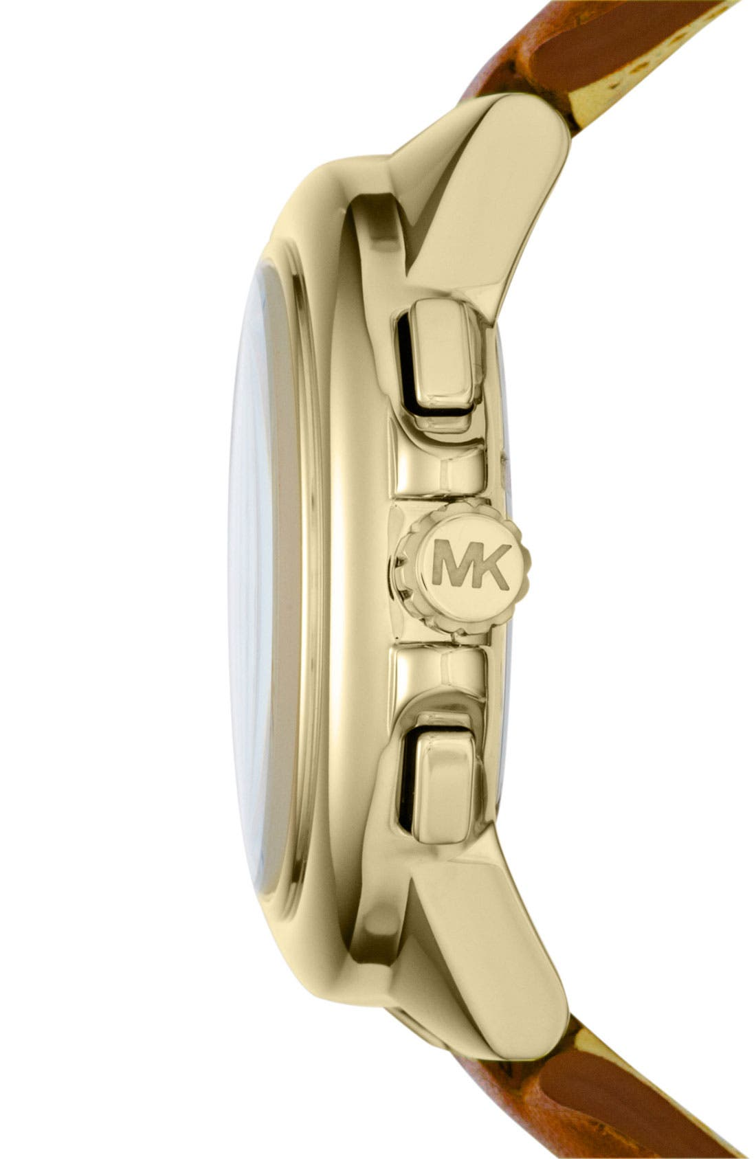Alternate Image 2  - Michael Kors 'Camille' Chronograph Leather Strap Watch