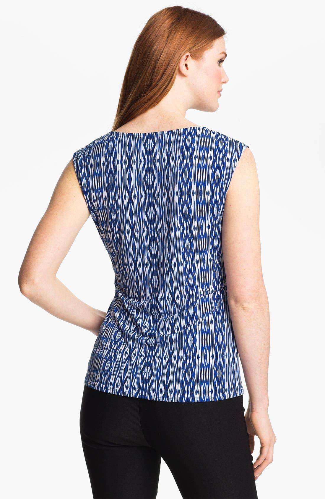 Alternate Image 2  - Chaus Drape Neck Ikat Print Top