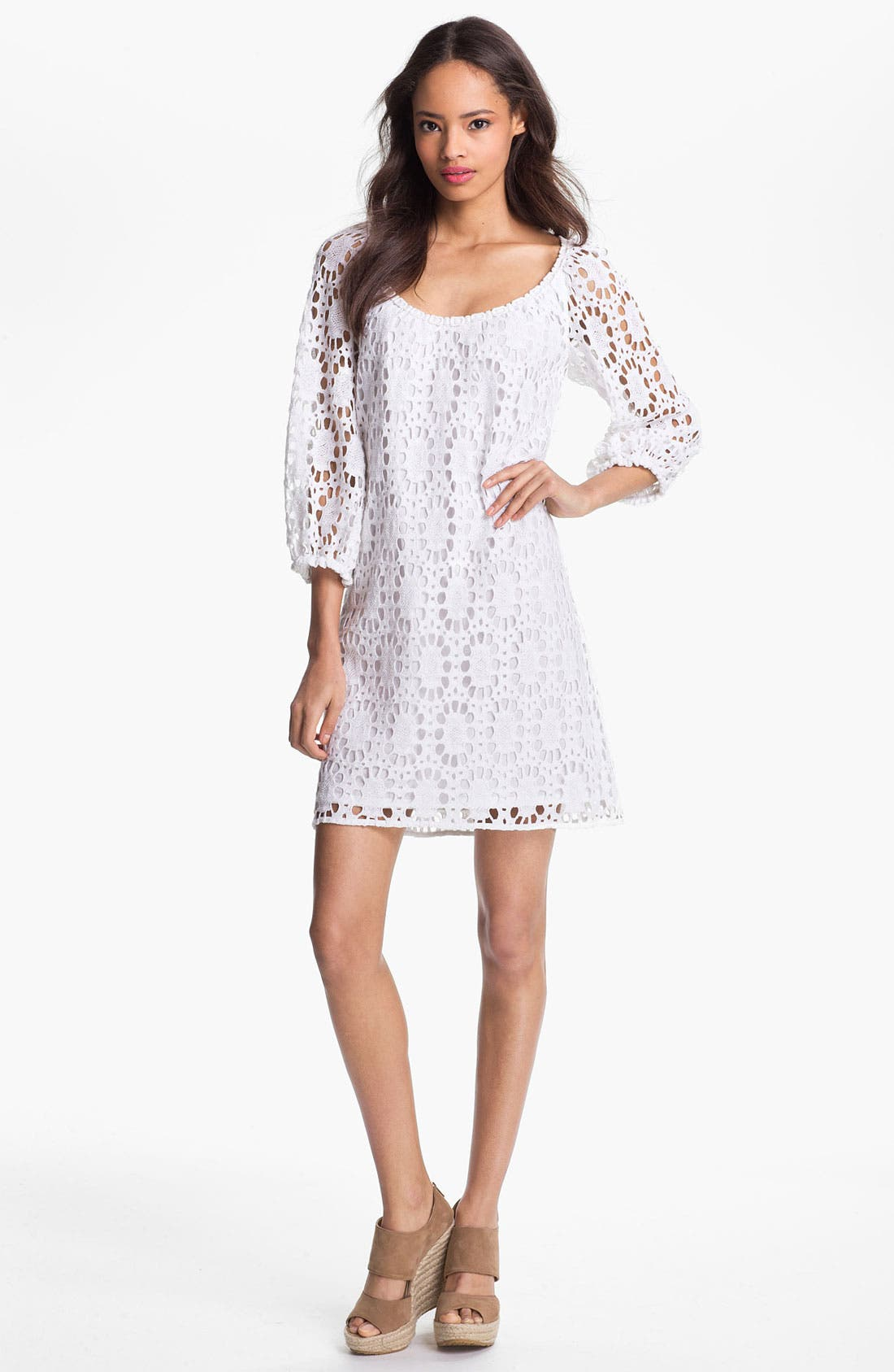 Alternate Image 1 Selected - Trina Turk 'Wakeboard' Lace Shift Dress
