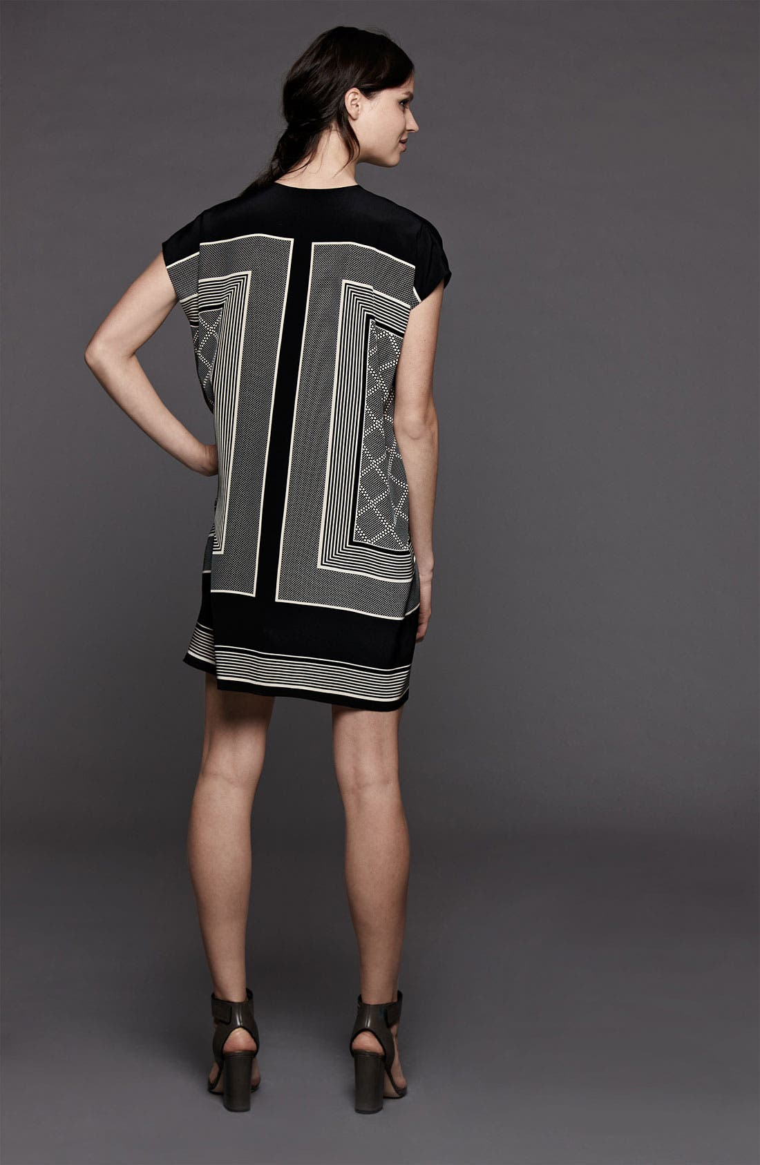 Alternate Image 5  - Vince Scarf Print Shift Dress