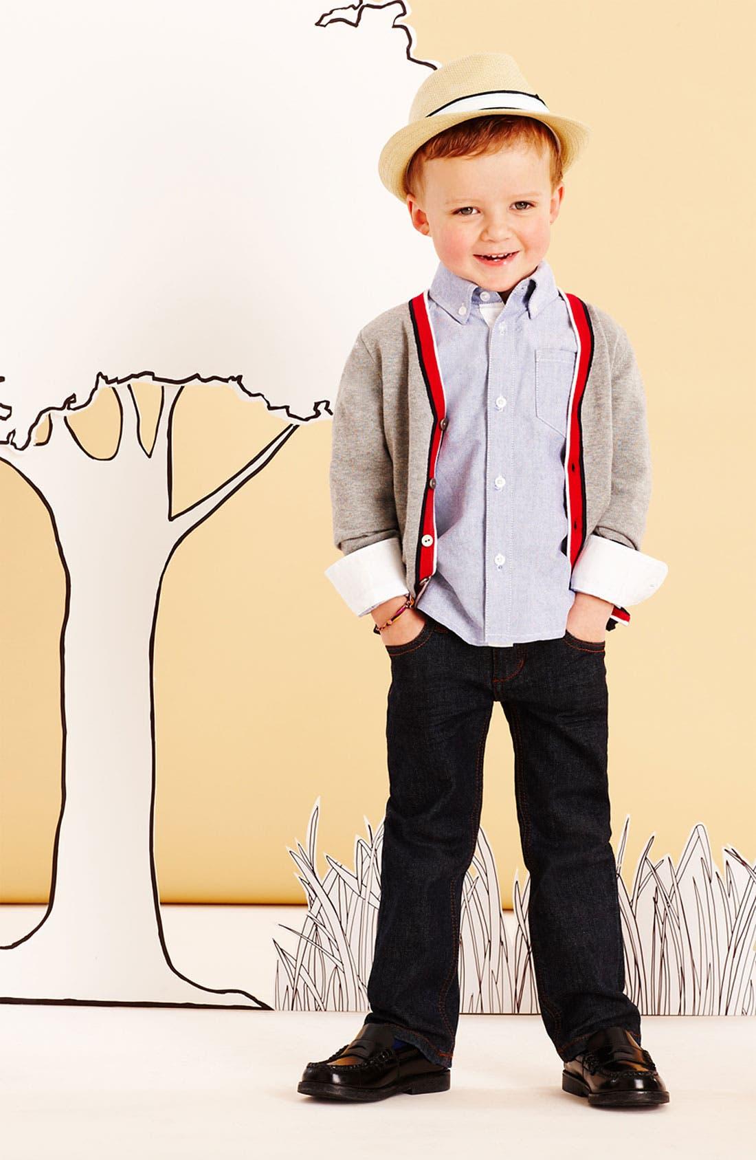 Alternate Image 1 Selected - Sovereign Code Cardigan, Woven Shirt & Joe's Jeans (Toddler)