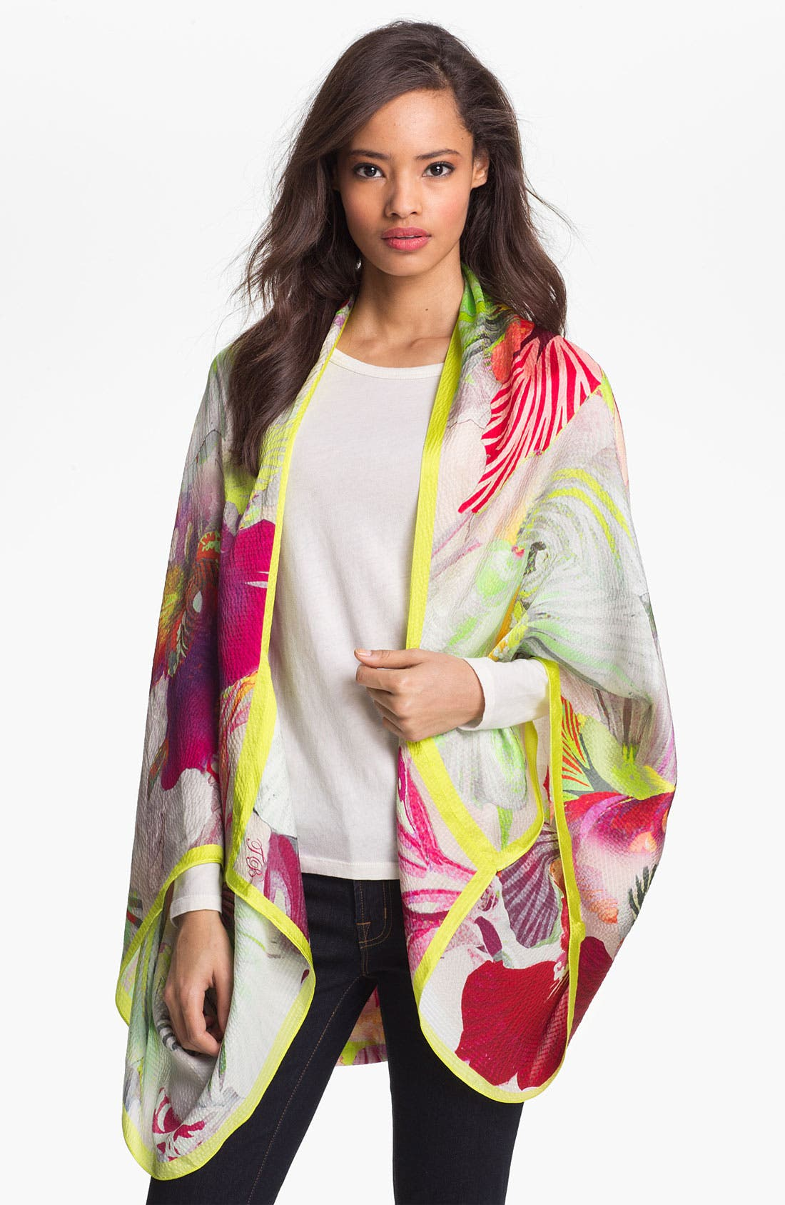 Alternate Image 1 Selected - Ted Baker London Silk Cape