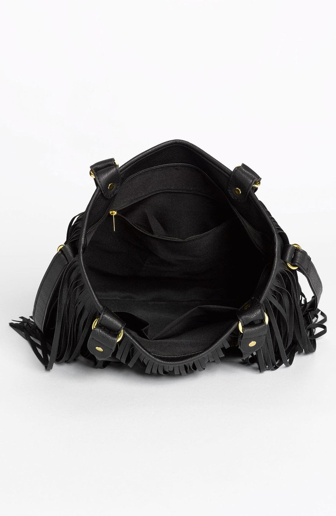 Alternate Image 3  - BP. Faux Leather Fringe Hobo Bag