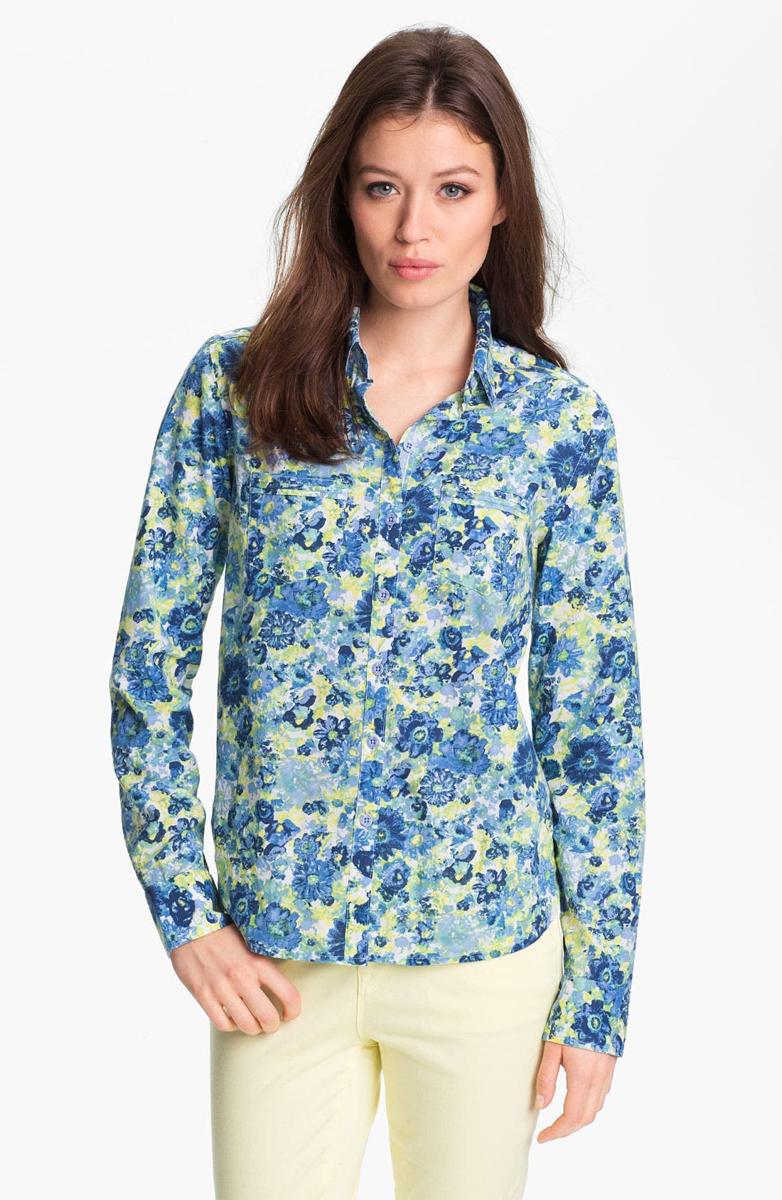 Alternate Image 1 Selected - Isaac Mizrahi Jeans 'Riley' Blouse