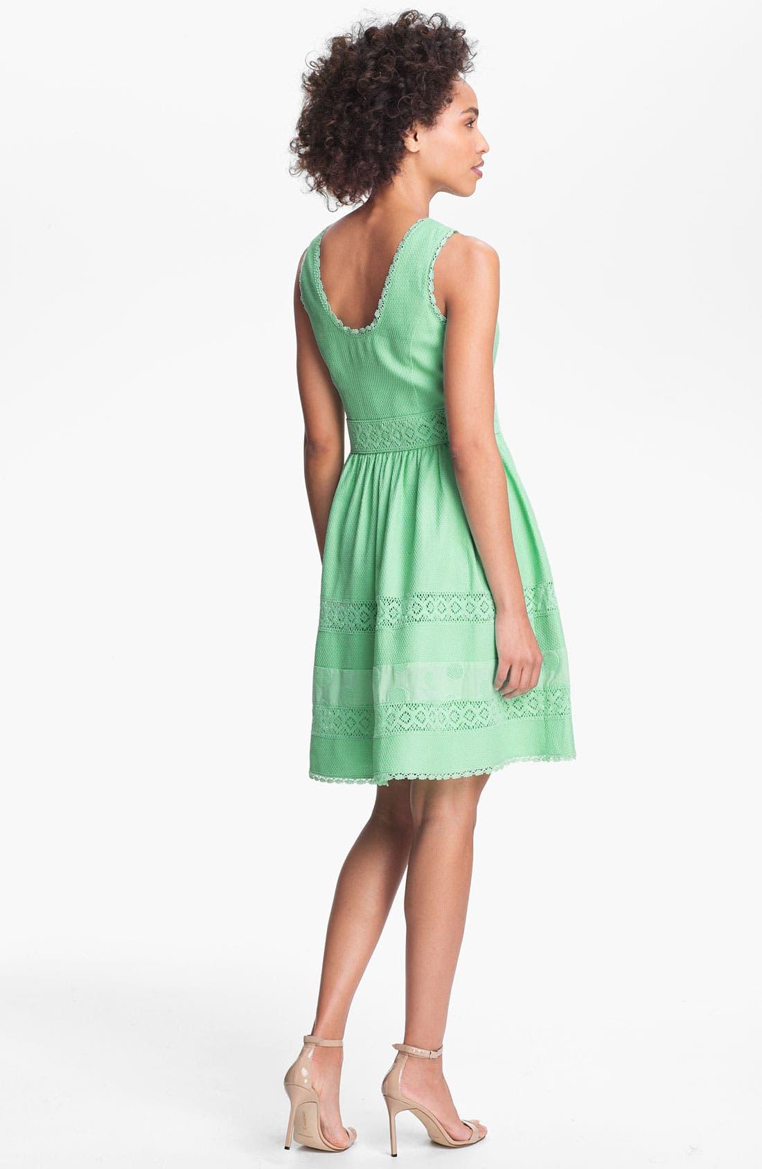 Alternate Image 2  - Jessica Simpson Basket Weave Fit & Flare Dress