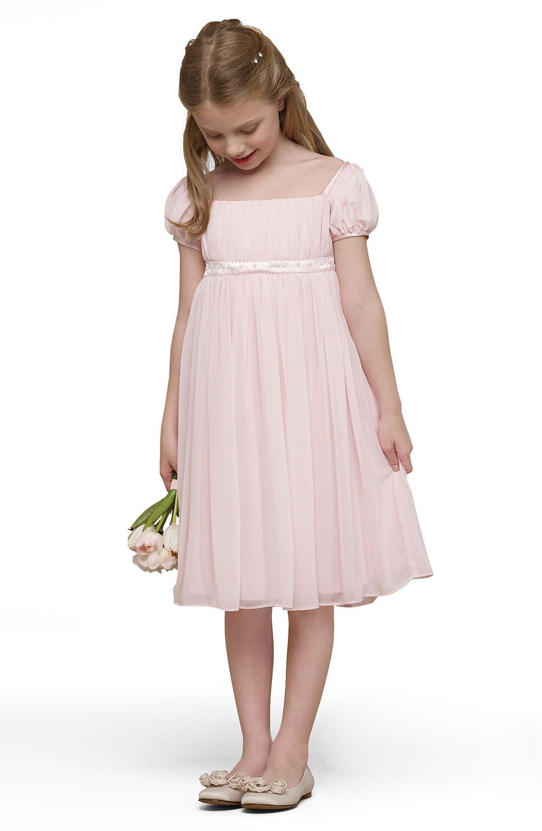 Alternate Image 1 Selected - Us Angels 'Renaissance' Chiffon Dress (Little Girls & Big Girls)
