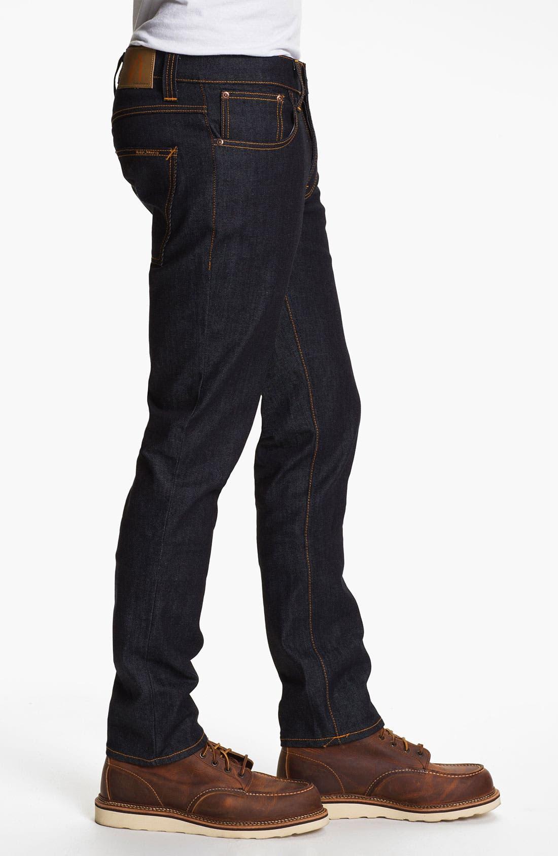 Alternate Image 3  - Nudie 'Grim Tim' Slim Fit Jeans (Organic Dry Navy)