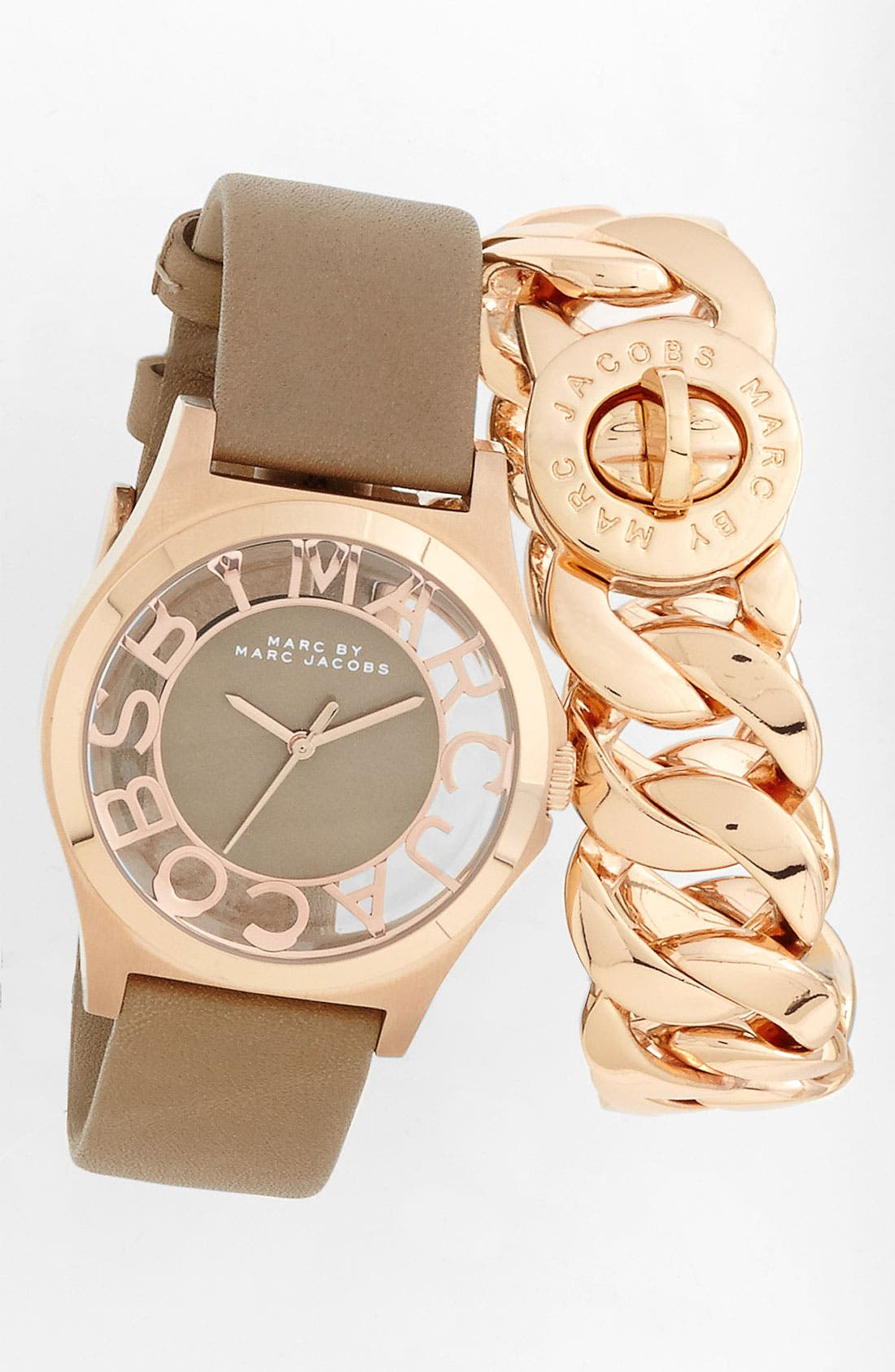 Alternate Image 4  - MARC BY MARC JACOBS 'Henry Skeleton' Watch, 40mm