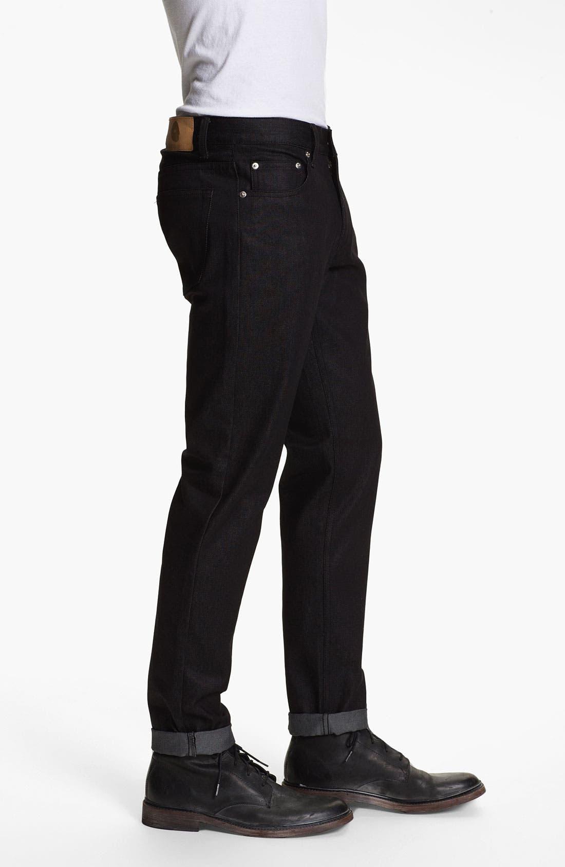 Alternate Image 3  - Cheap Monday High Slim Leg Jeans (Dry Black)