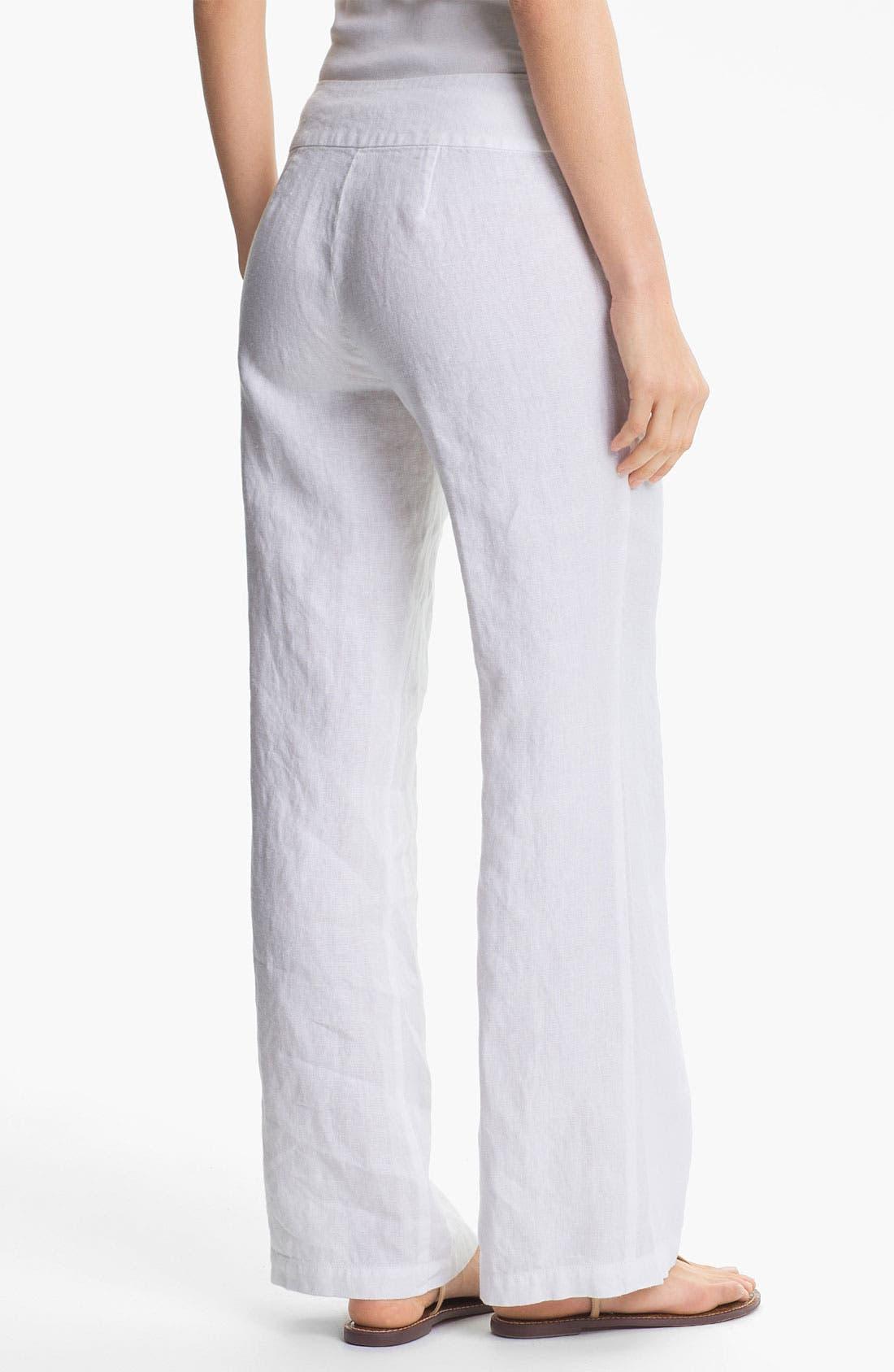 Alternate Image 2  - Eileen Fisher Straight Leg Linen Pants