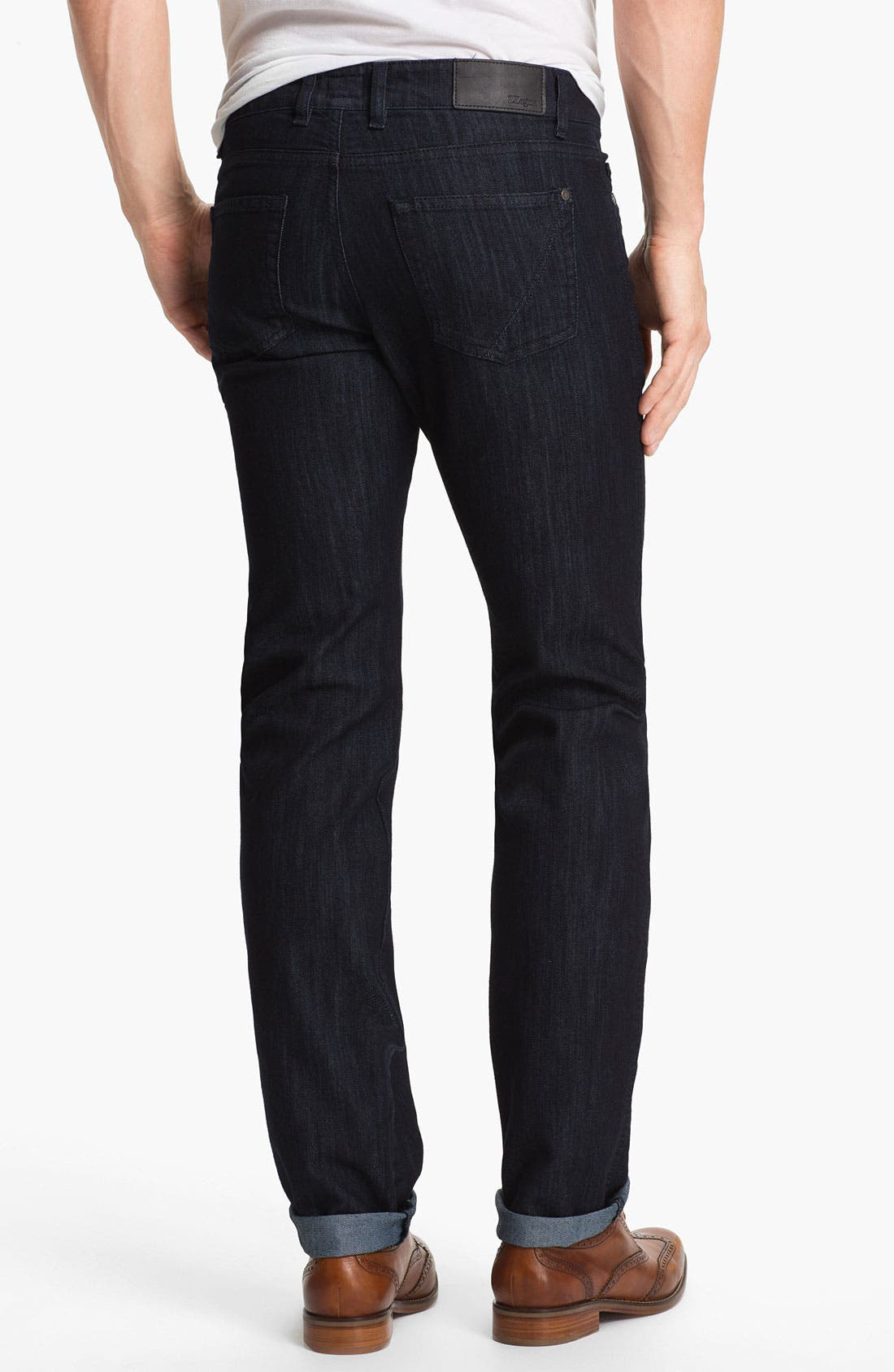Alternate Image 2  - Z Zegna 'Metalized Effect' Straight Leg Jeans (Navy)